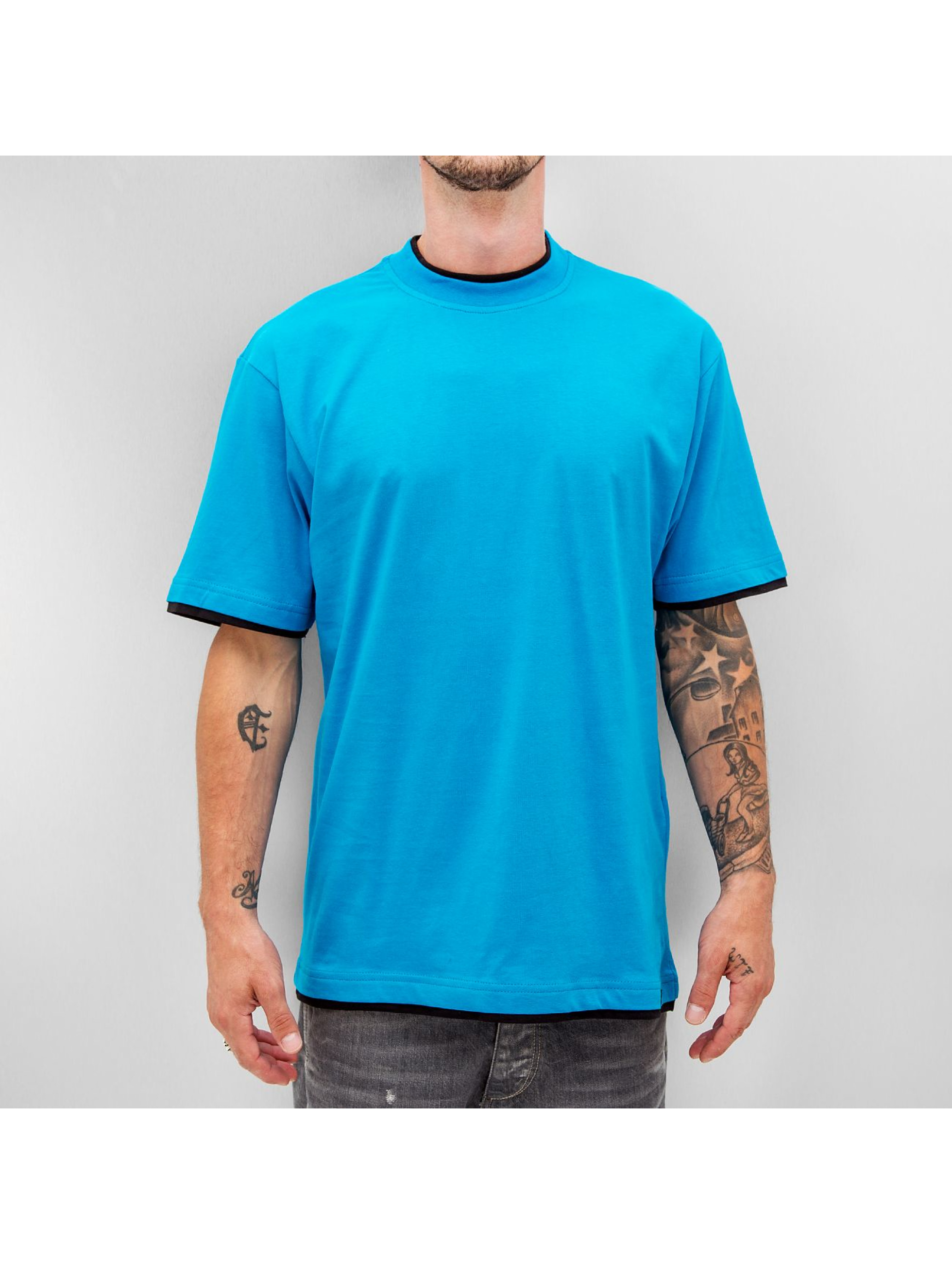 Dangerous DNGRS T-Shirt Two Tone Regular bleu