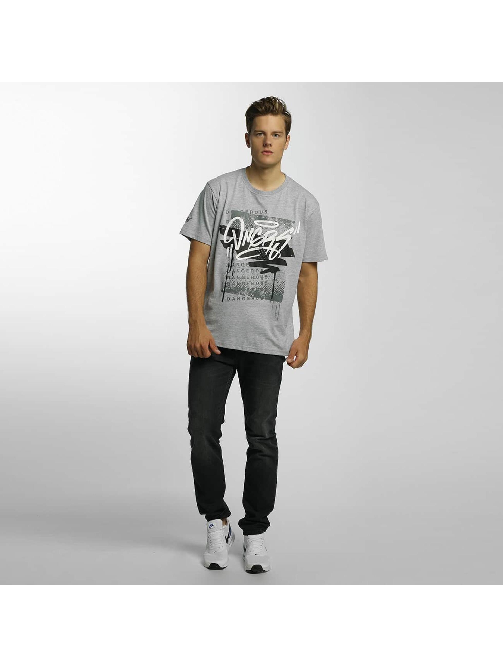 Dangerous DNGRS T-Shirt Scratchwork grey