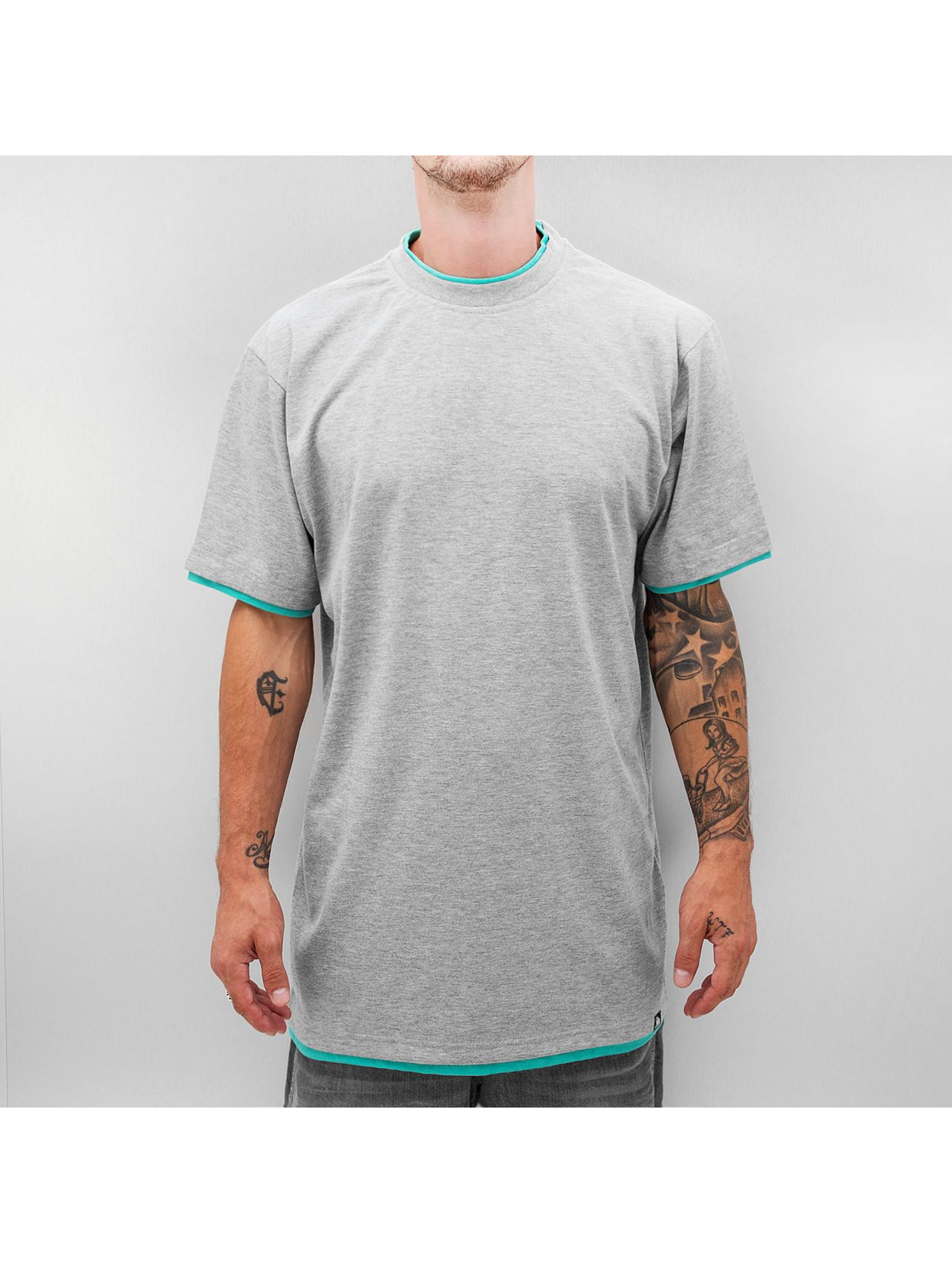 Dangerous DNGRS T-shirt long oversize Two Tone gris