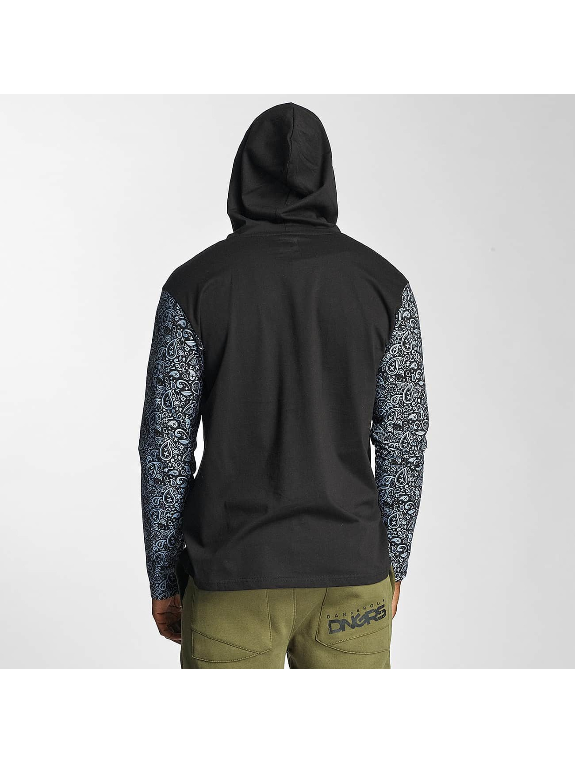 Dangerous DNGRS T-Shirt manches longues Legend Hooded noir