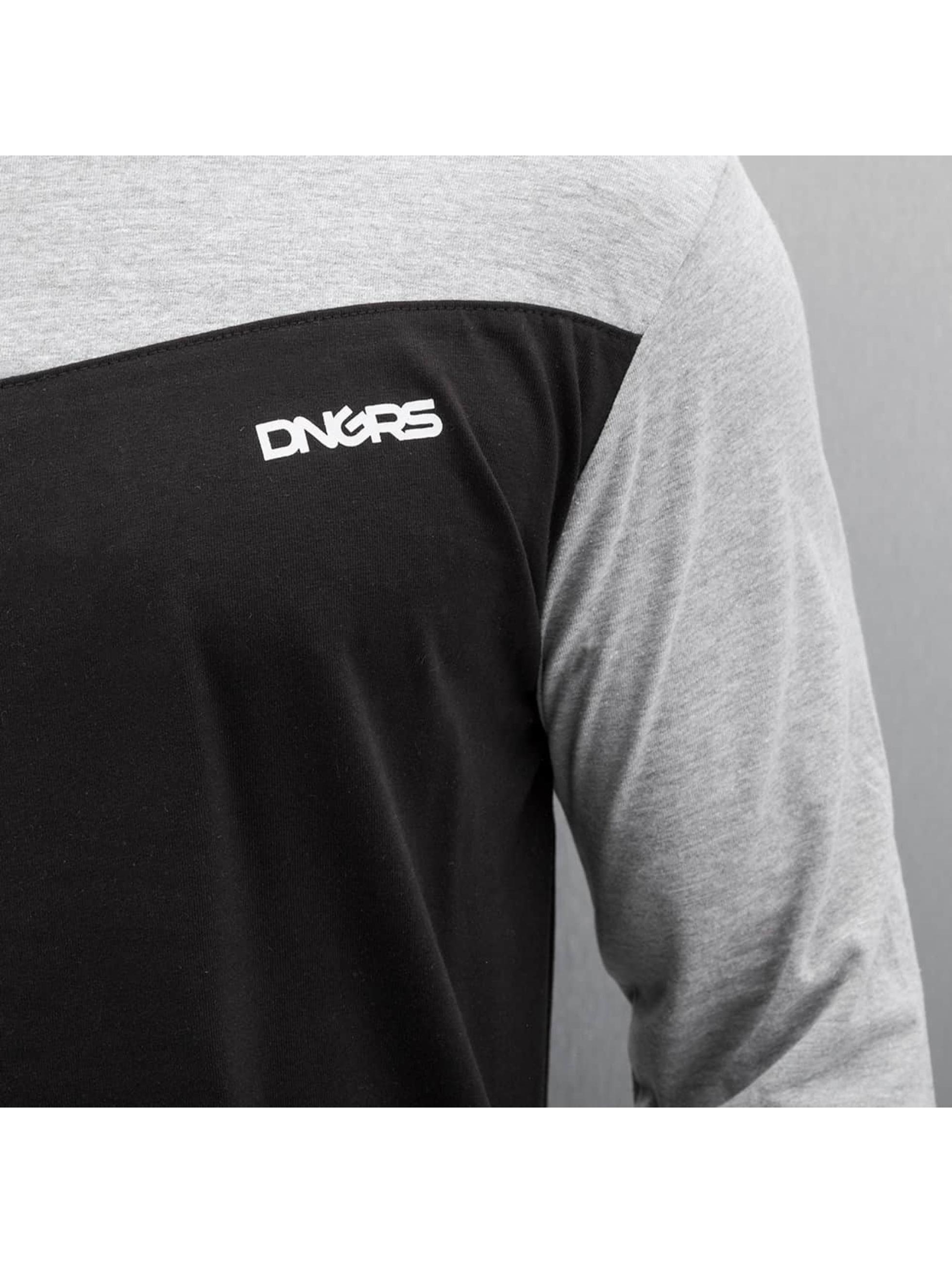 Dangerous DNGRS T-Shirt manches longues V-Cut noir
