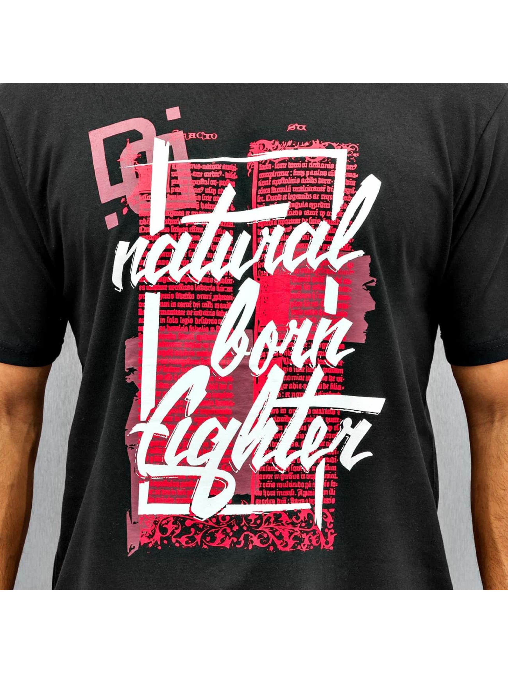 Dangerous DNGRS T-Shirt Natural Born Fighter schwarz