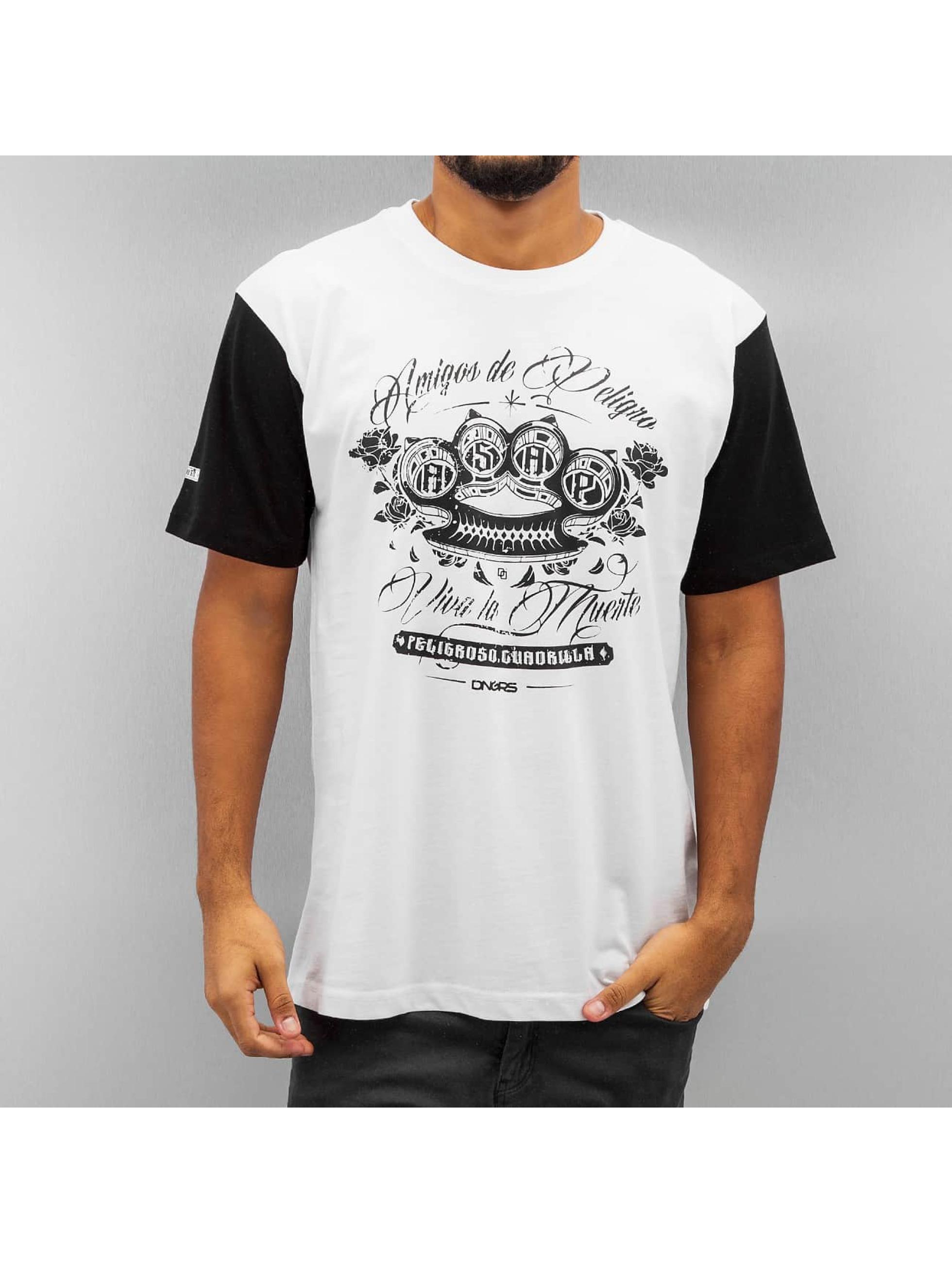 Dangerous DNGRS T-Shirt Brass Knuckles weiß