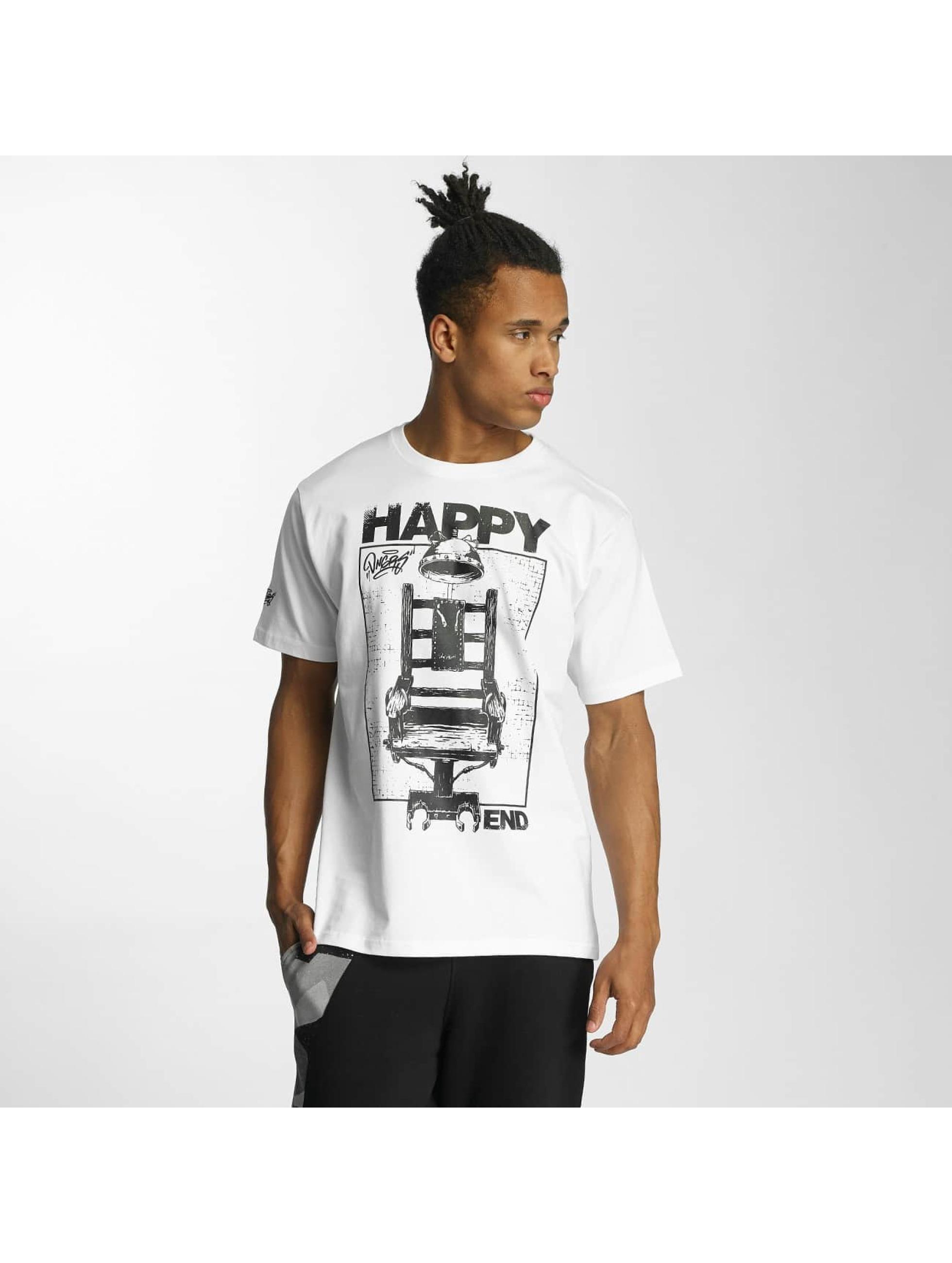 Dangerous DNGRS T-Shirt Happyend weiß