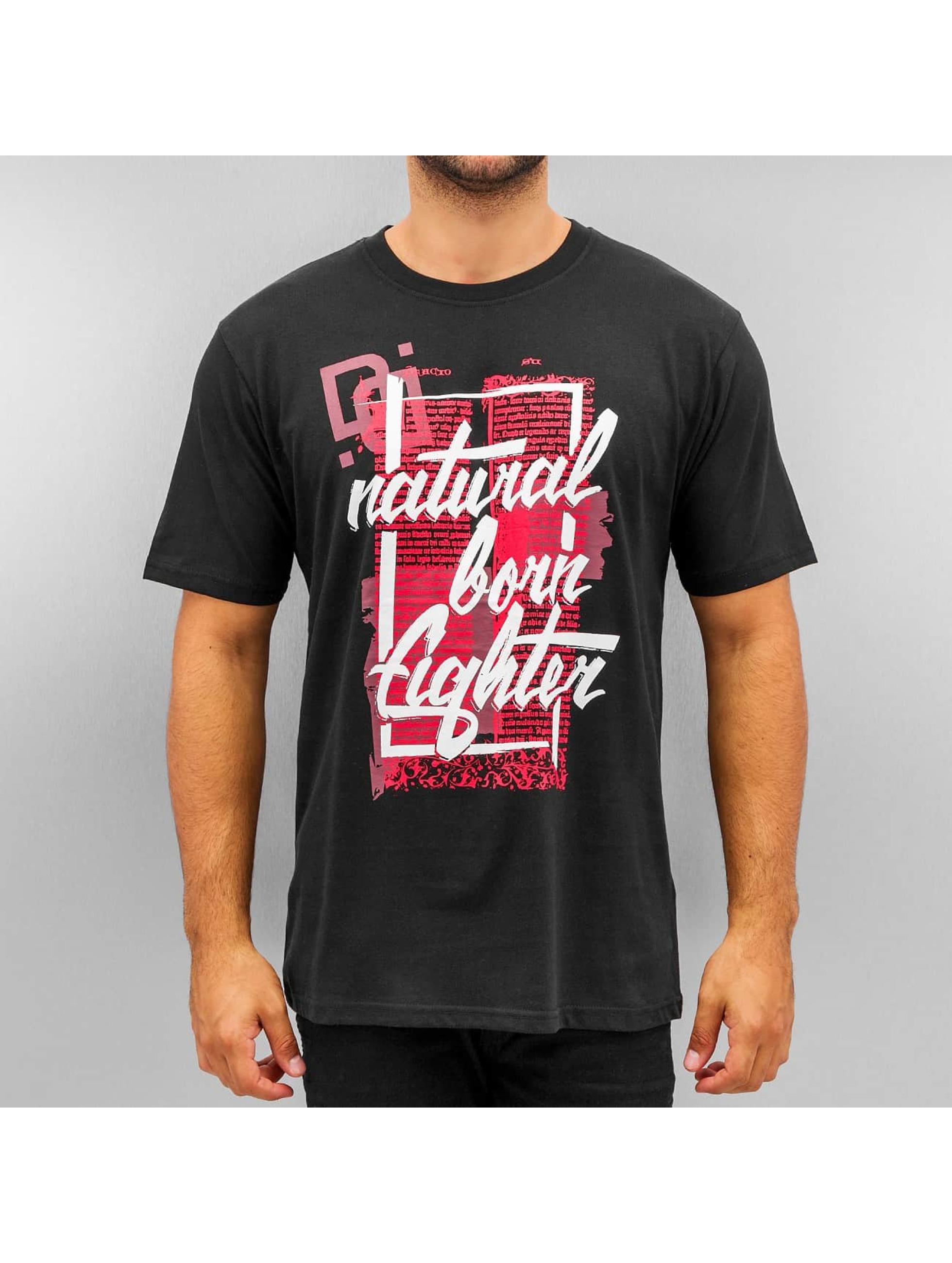 Dangerous DNGRS t-shirt Natural Born Fighter zwart