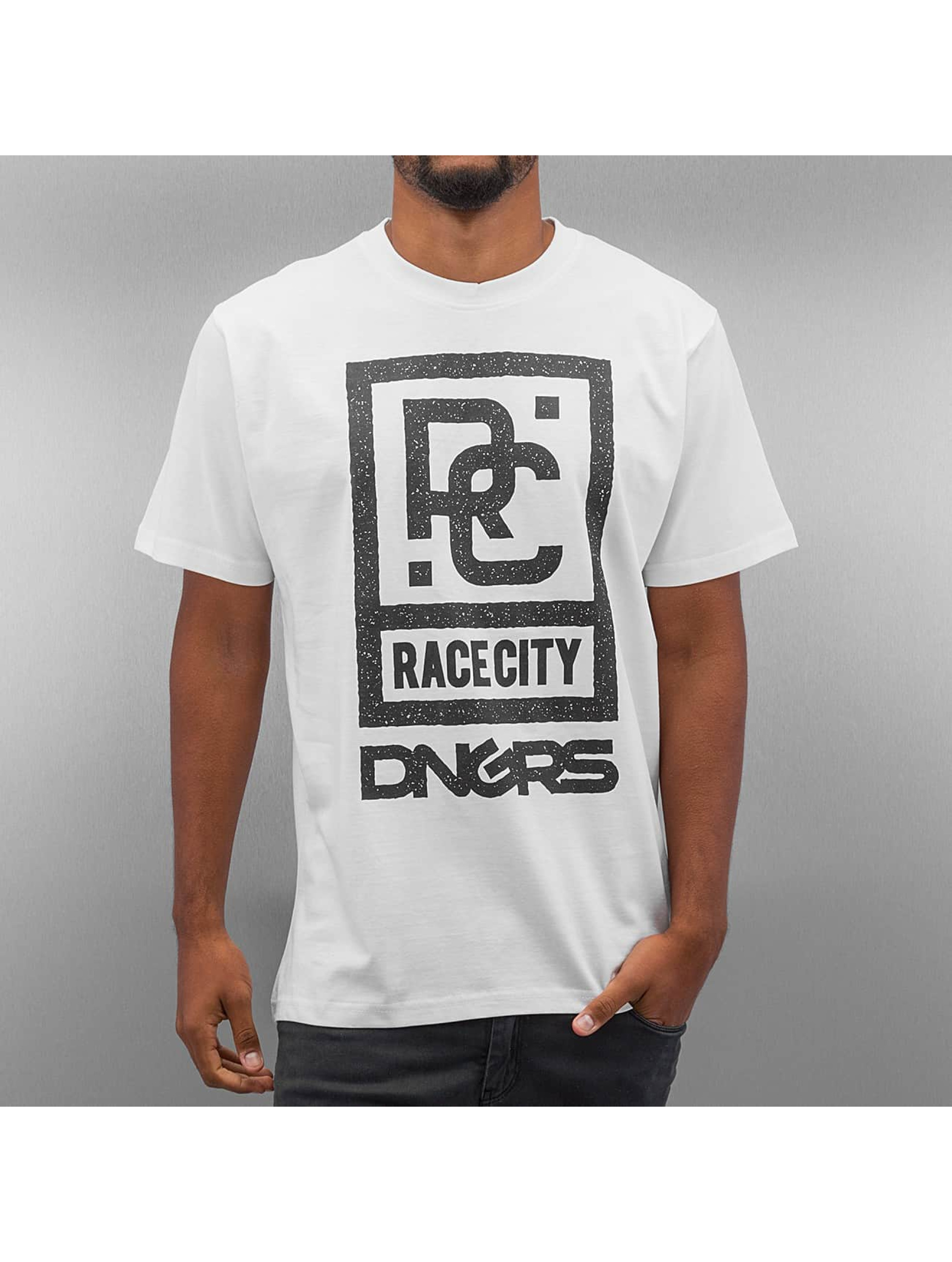 Dangerous DNGRS T-Shirty Race City bialy