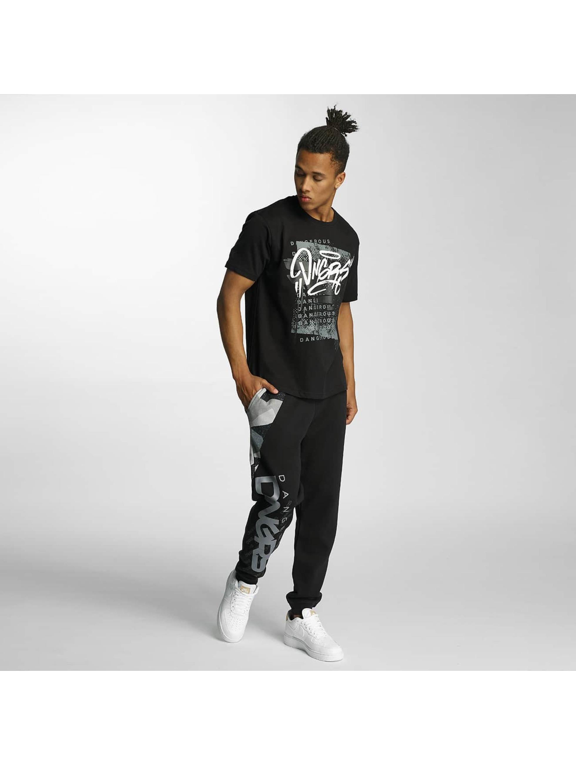 Dangerous DNGRS T-Shirty Scratchwork czarny