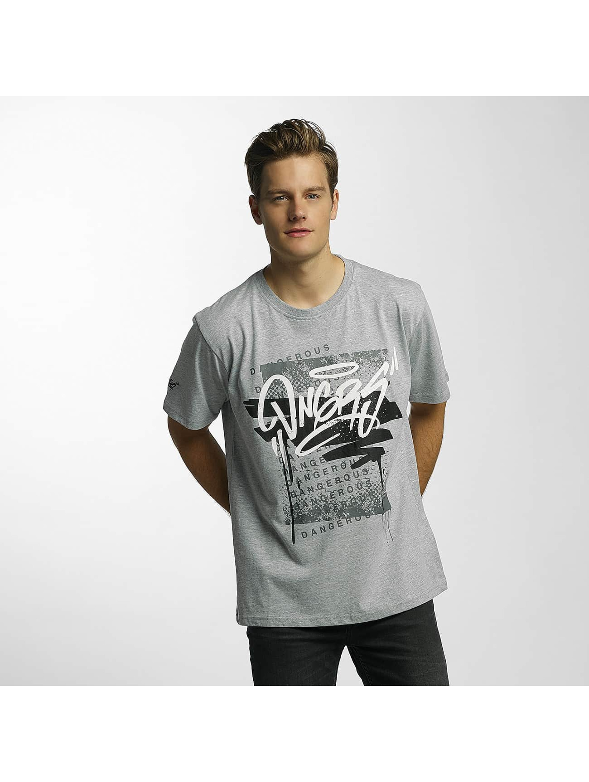 Dangerous DNGRS T-skjorter Scratchwork grå