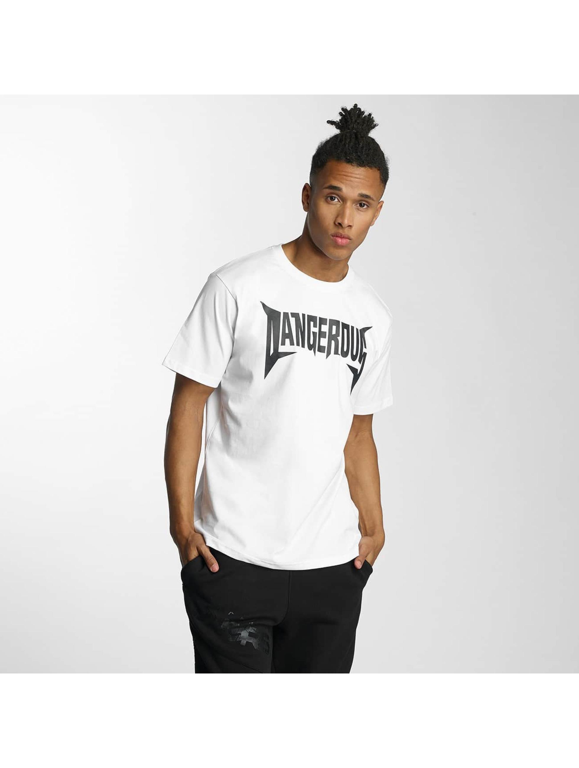 Dangerous DNGRS T-skjorter Methal hvit