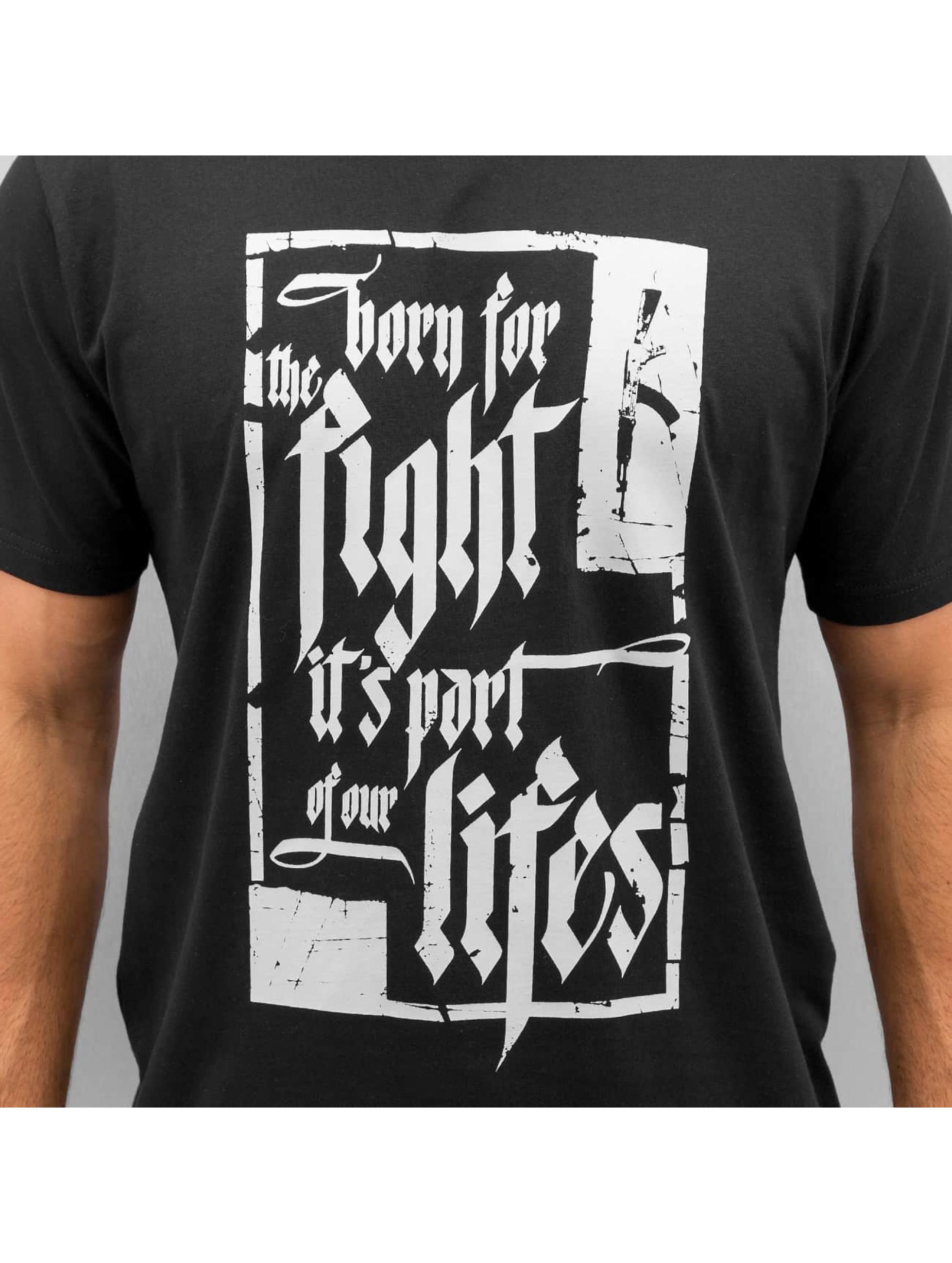 Dangerous DNGRS T-skjorter Born For The Fight svart