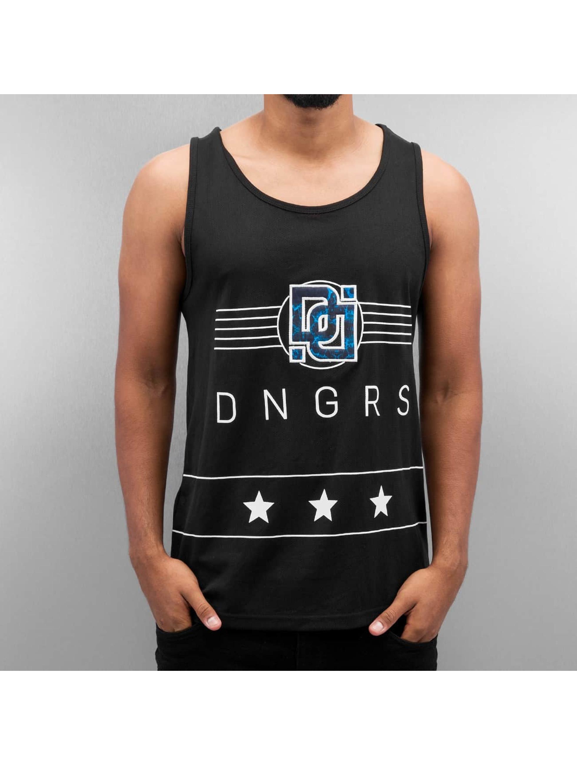 Dangerous DNGRS Tank Tops Star schwarz