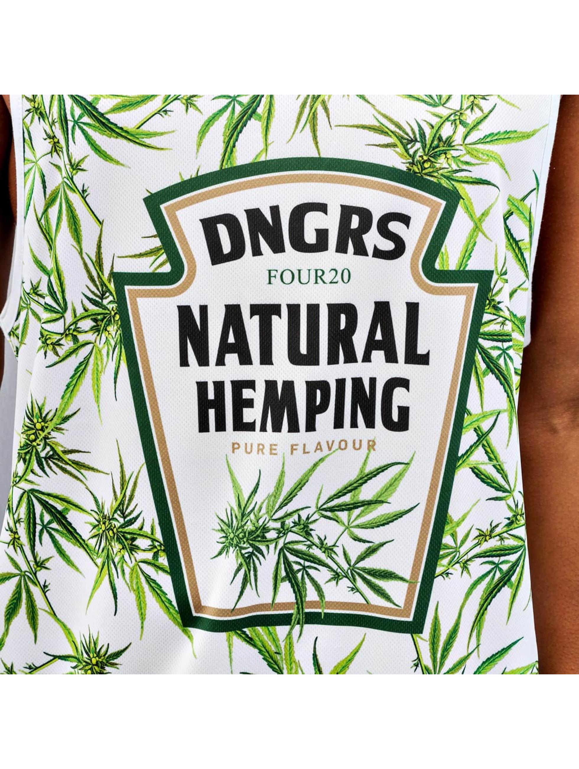 Dangerous DNGRS Tank Tops Natural Hemping weiß