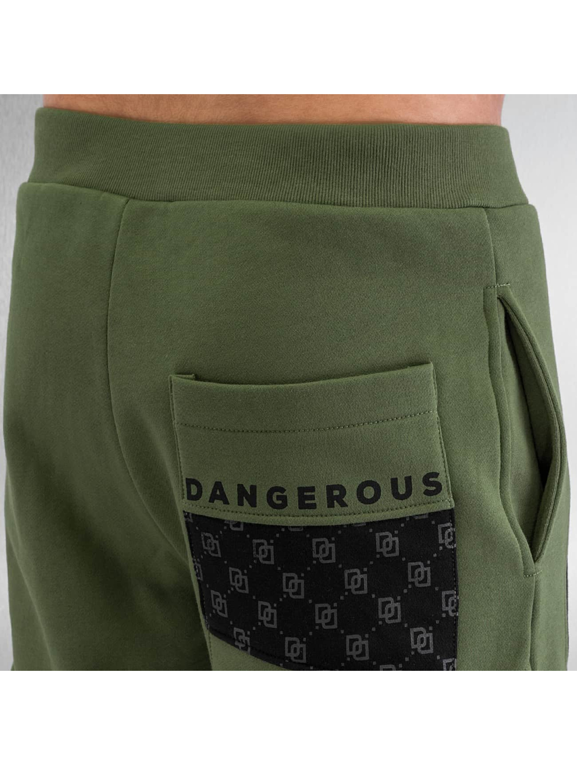 Dangerous DNGRS tepláky Small Symbols olivová