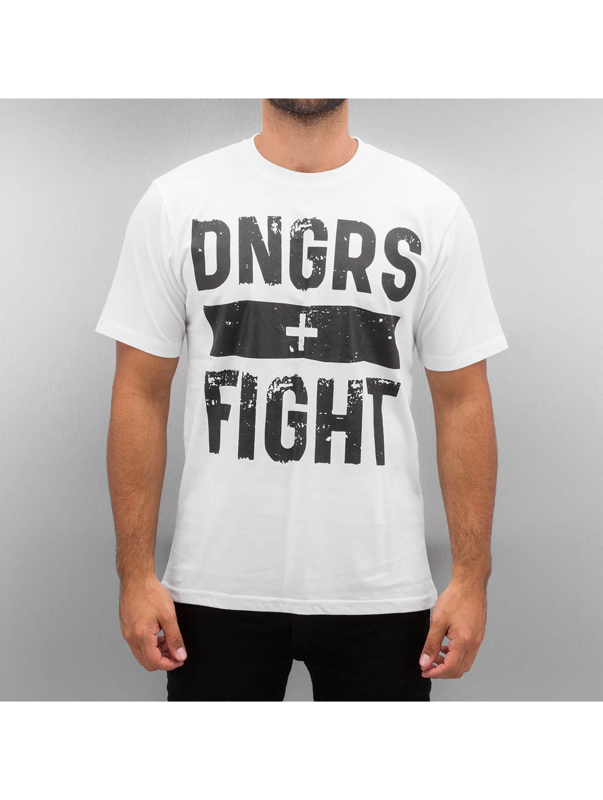 Dangerous DNGRS Tričká Fight biela