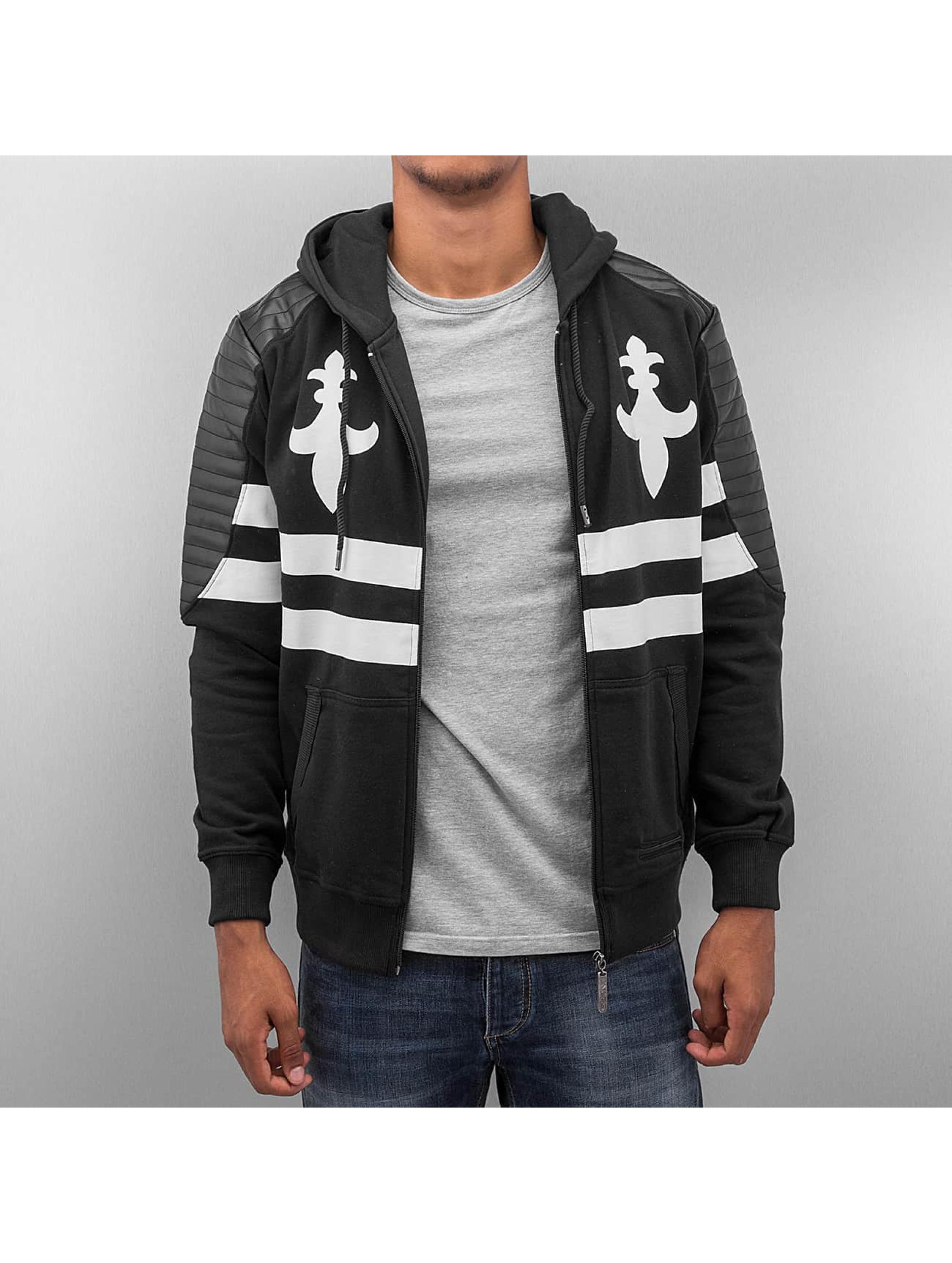 Dangerous DNGRS Zip Hoodie PU Leather черный