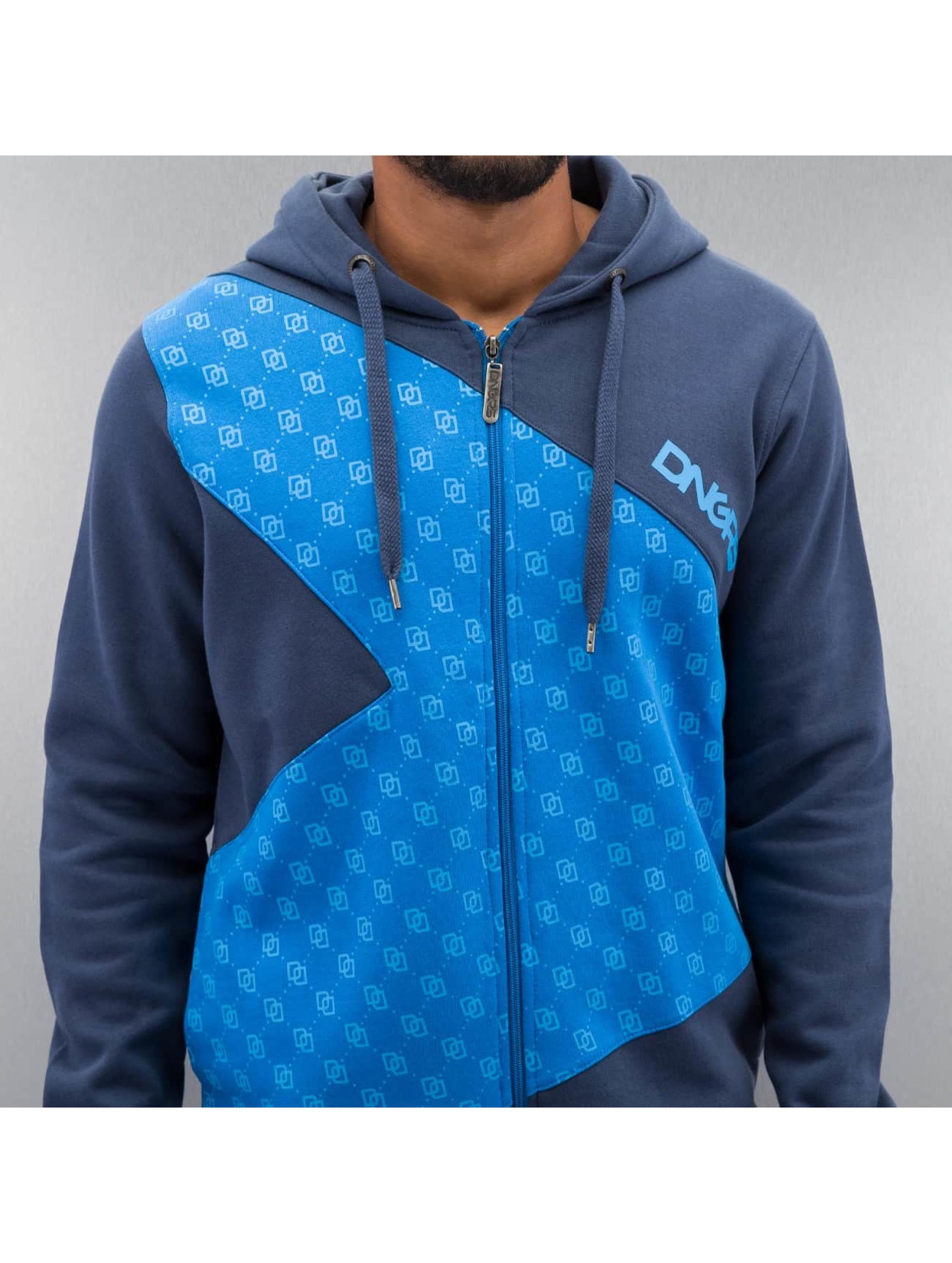 Dangerous DNGRS Zip Hoodie Front Logos blau