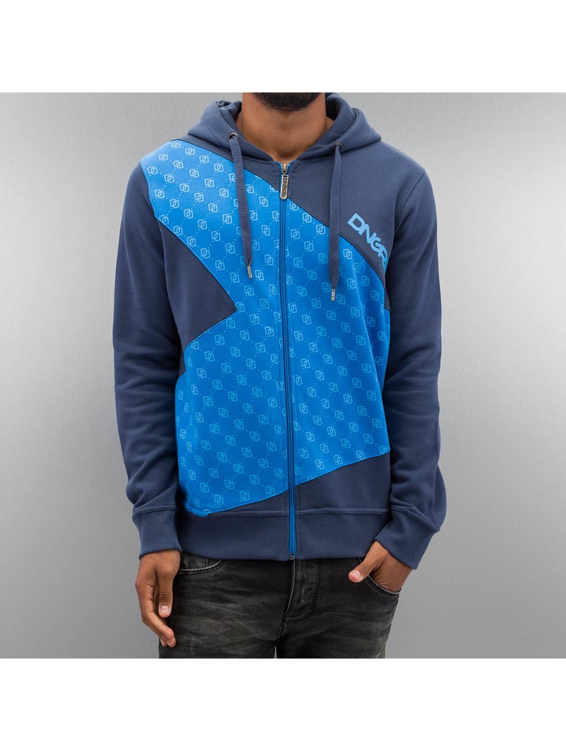 Dangerous DNGRS Zip Hoodie Front Logos blue