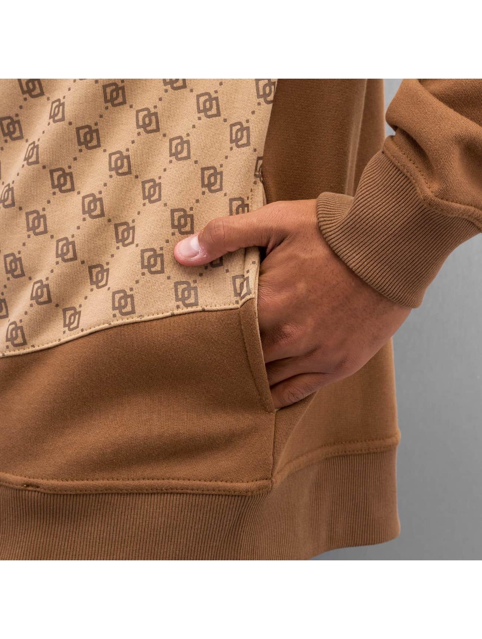 Dangerous DNGRS Zip Hoodie Front Logos braun