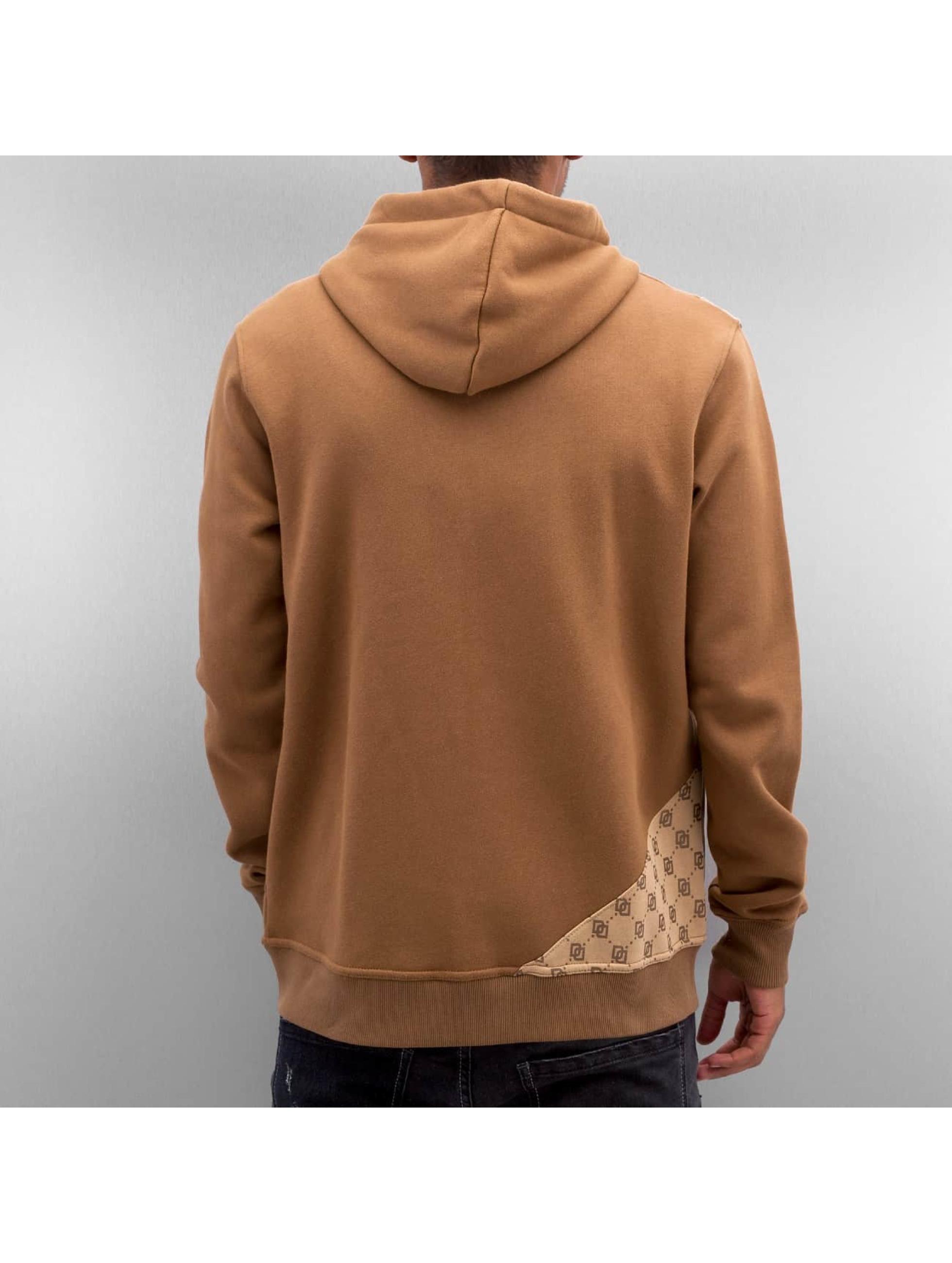 Dangerous DNGRS Zip Hoodie Front Logos brun