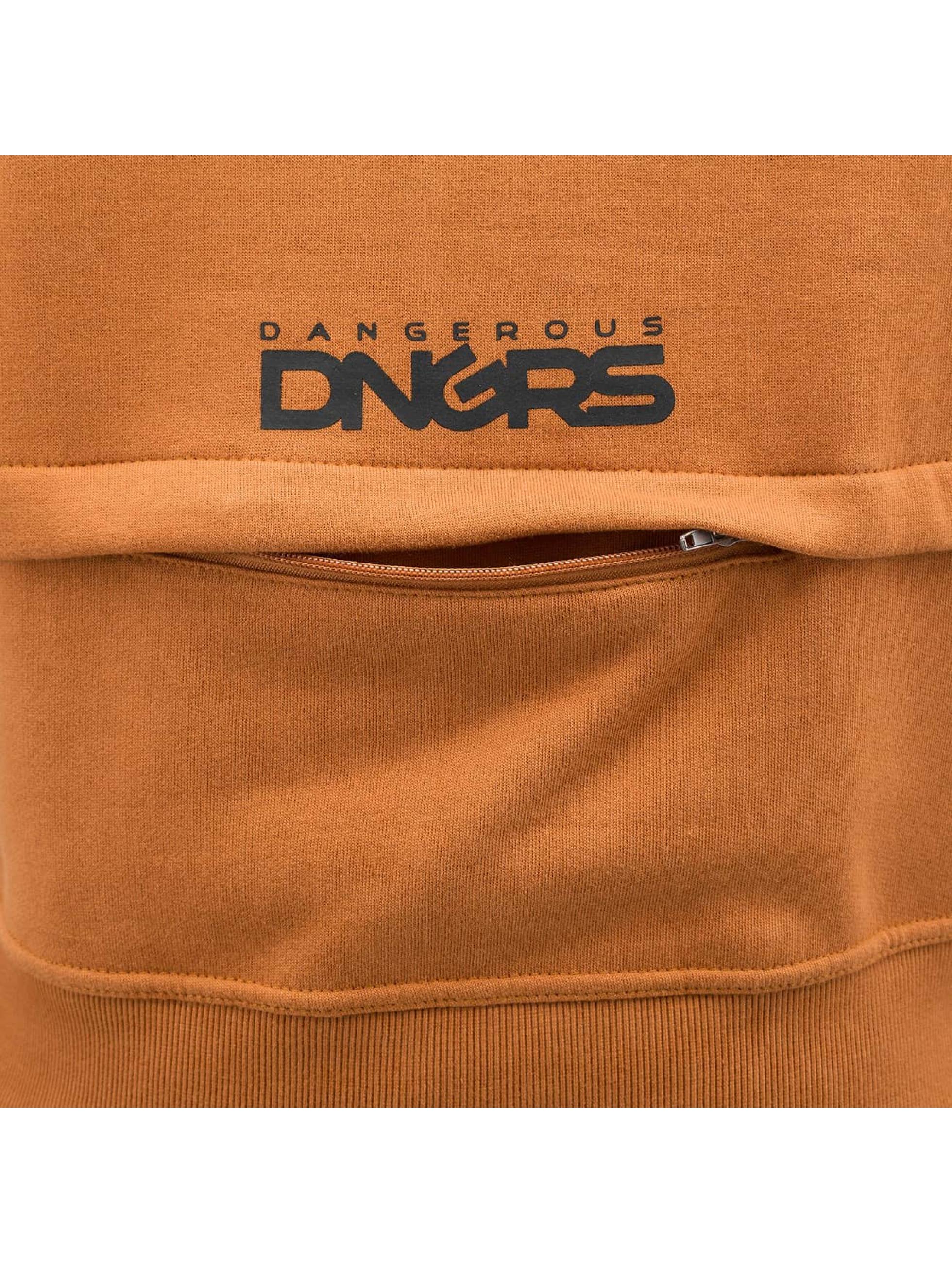 Dangerous DNGRS Zip Hoodie DGZH044 hnedá