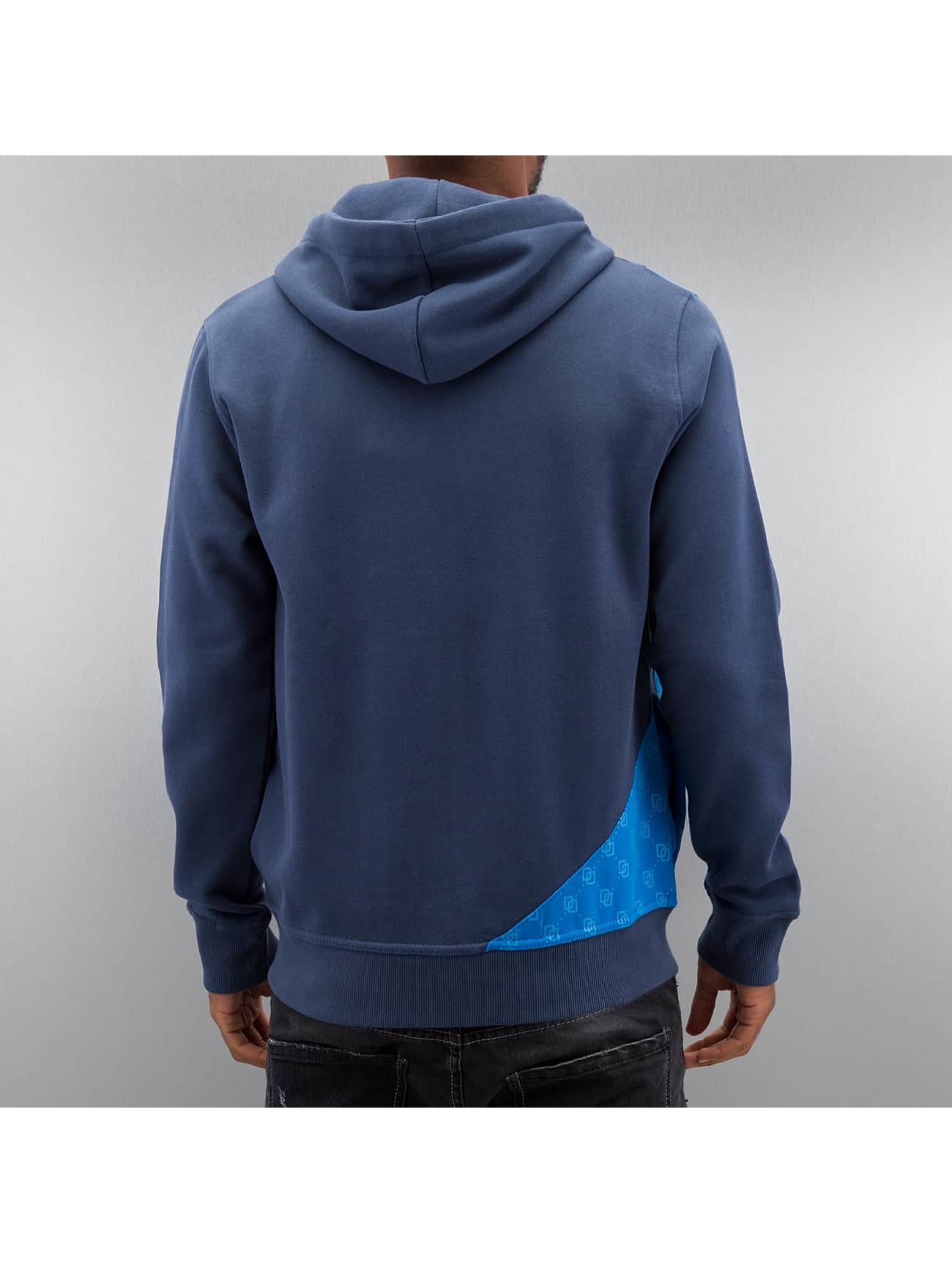 Dangerous DNGRS Zip Hoodie Front Logos niebieski