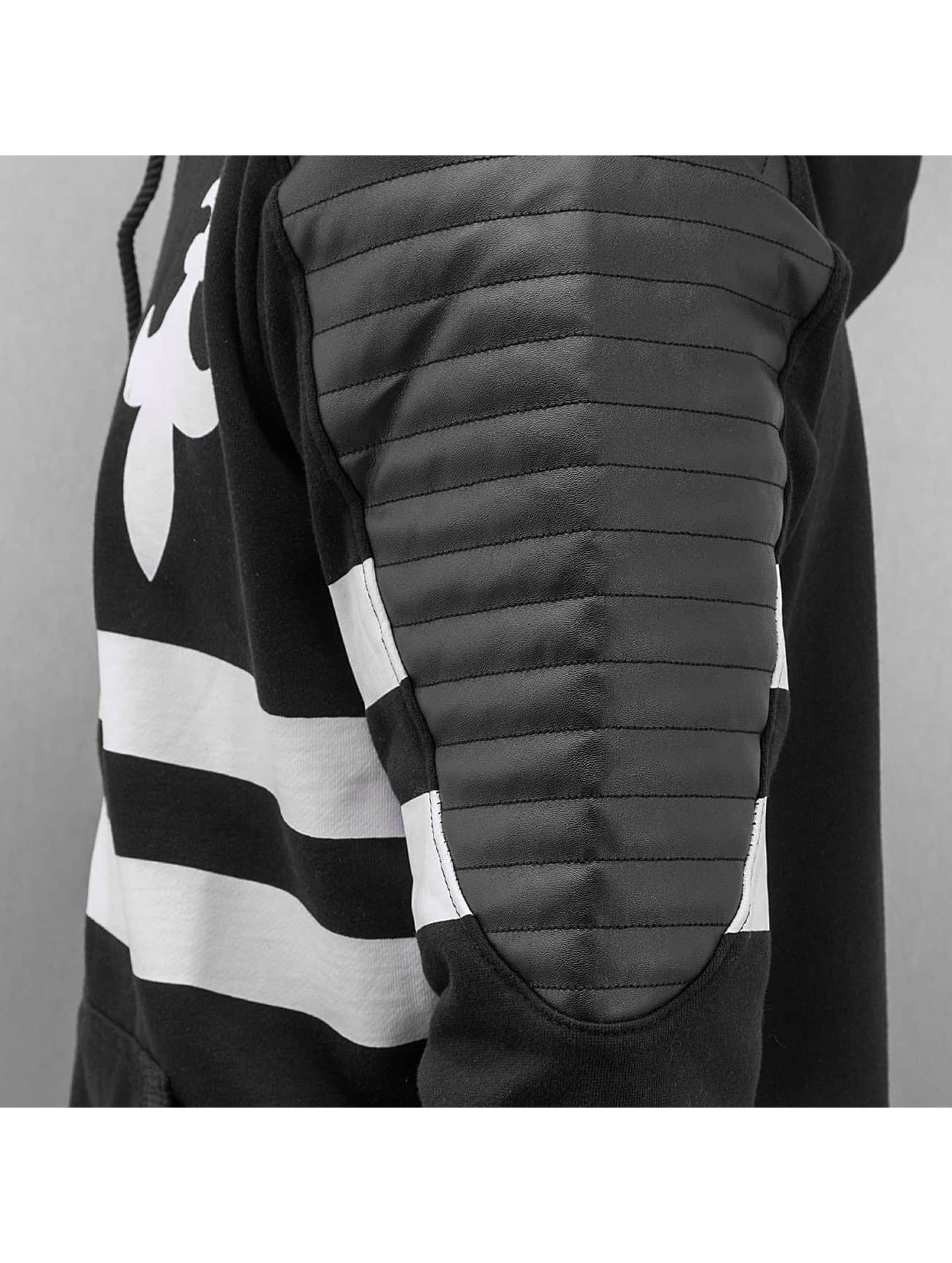 Dangerous DNGRS Zip Hoodie PU Leather schwarz