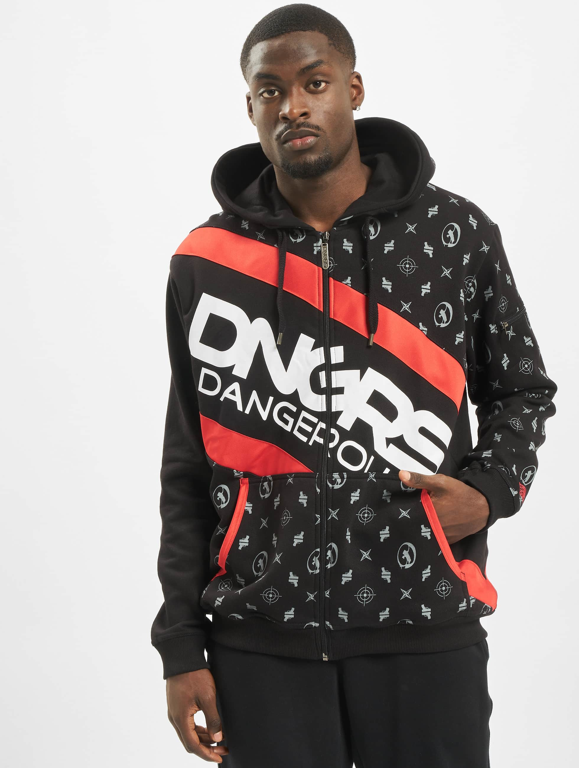 Dangerous DNGRS Bear Ziphoody Black