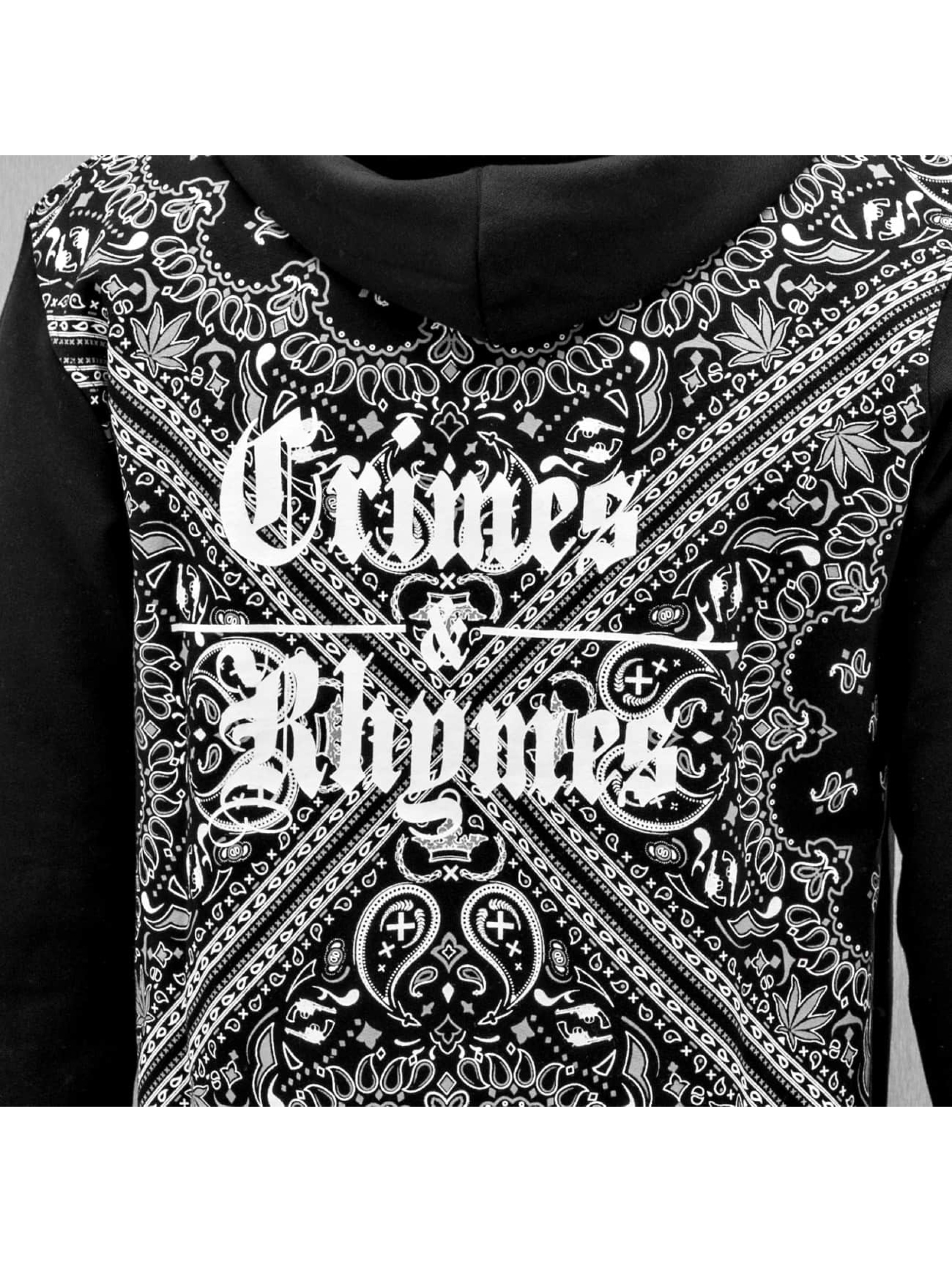 Dangerous DNGRS Zip Hoodie Crimes & Rhymes svart