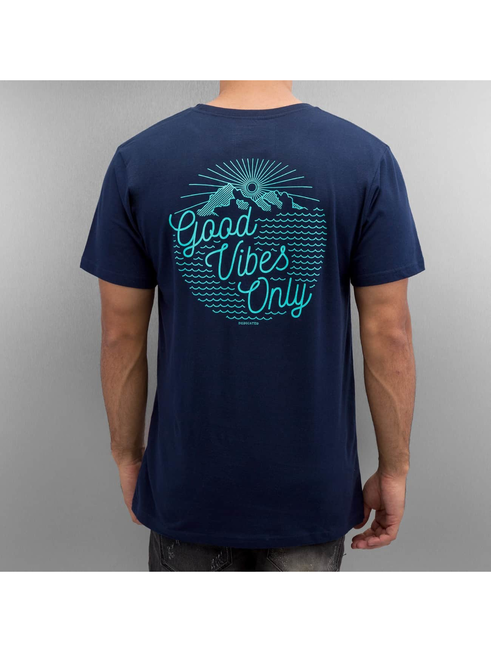 DEDICATED t-shirt Good Vibes blauw