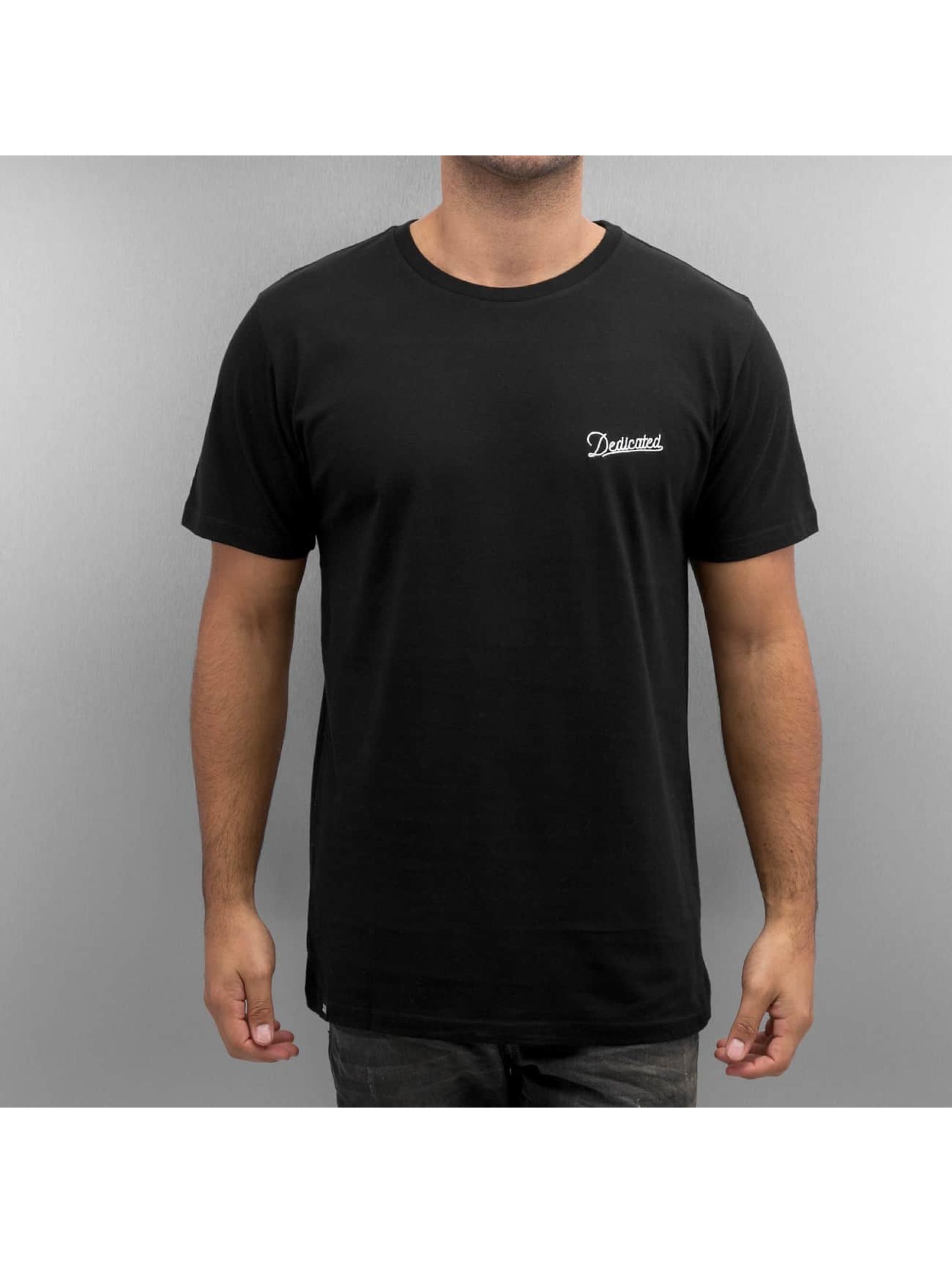 DEDICATED t-shirt Stockholm Mountain Script zwart