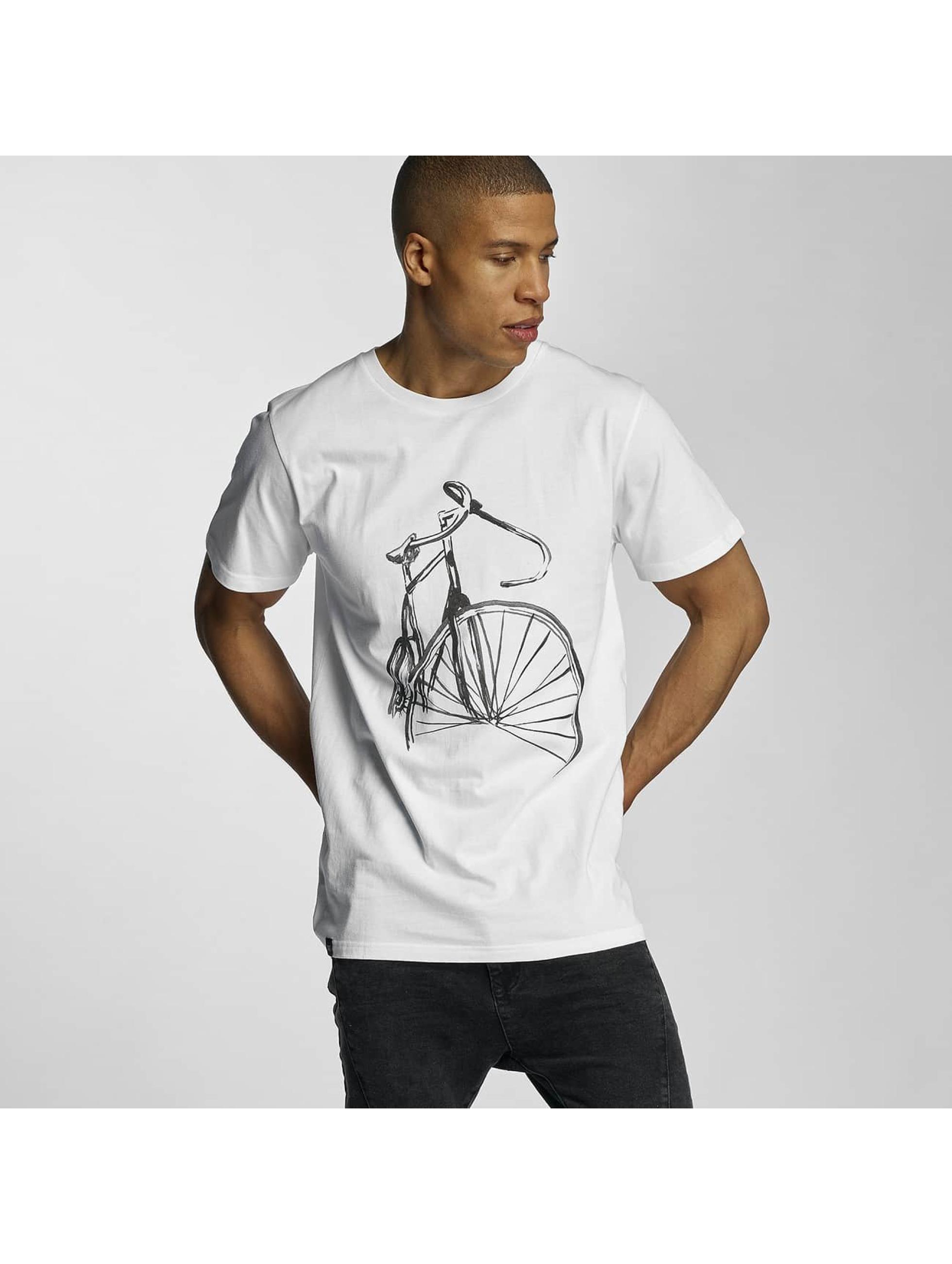 DEDICATED Tričká Sketch Bike biela