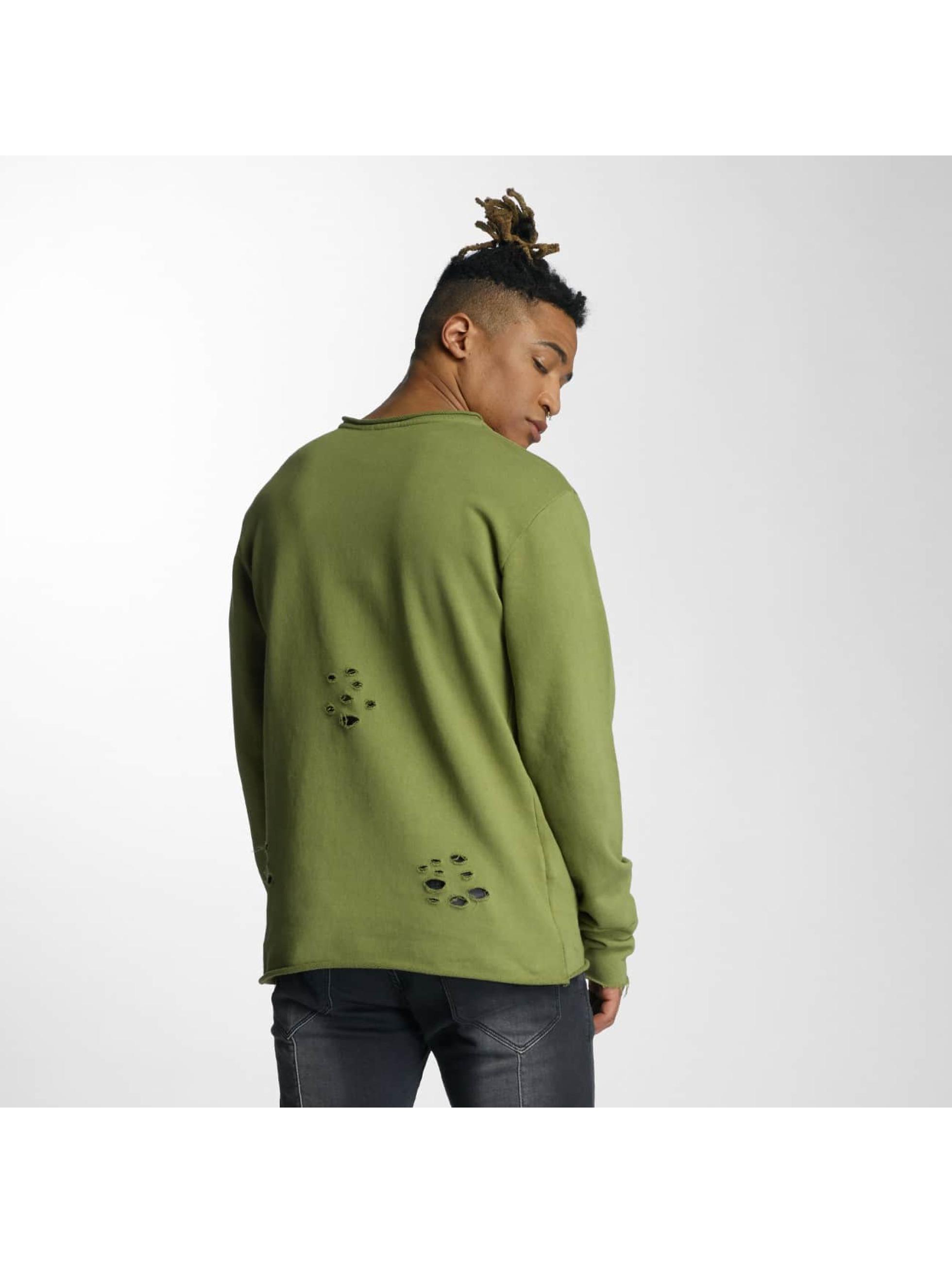 DEF Пуловер Tomen оливковый