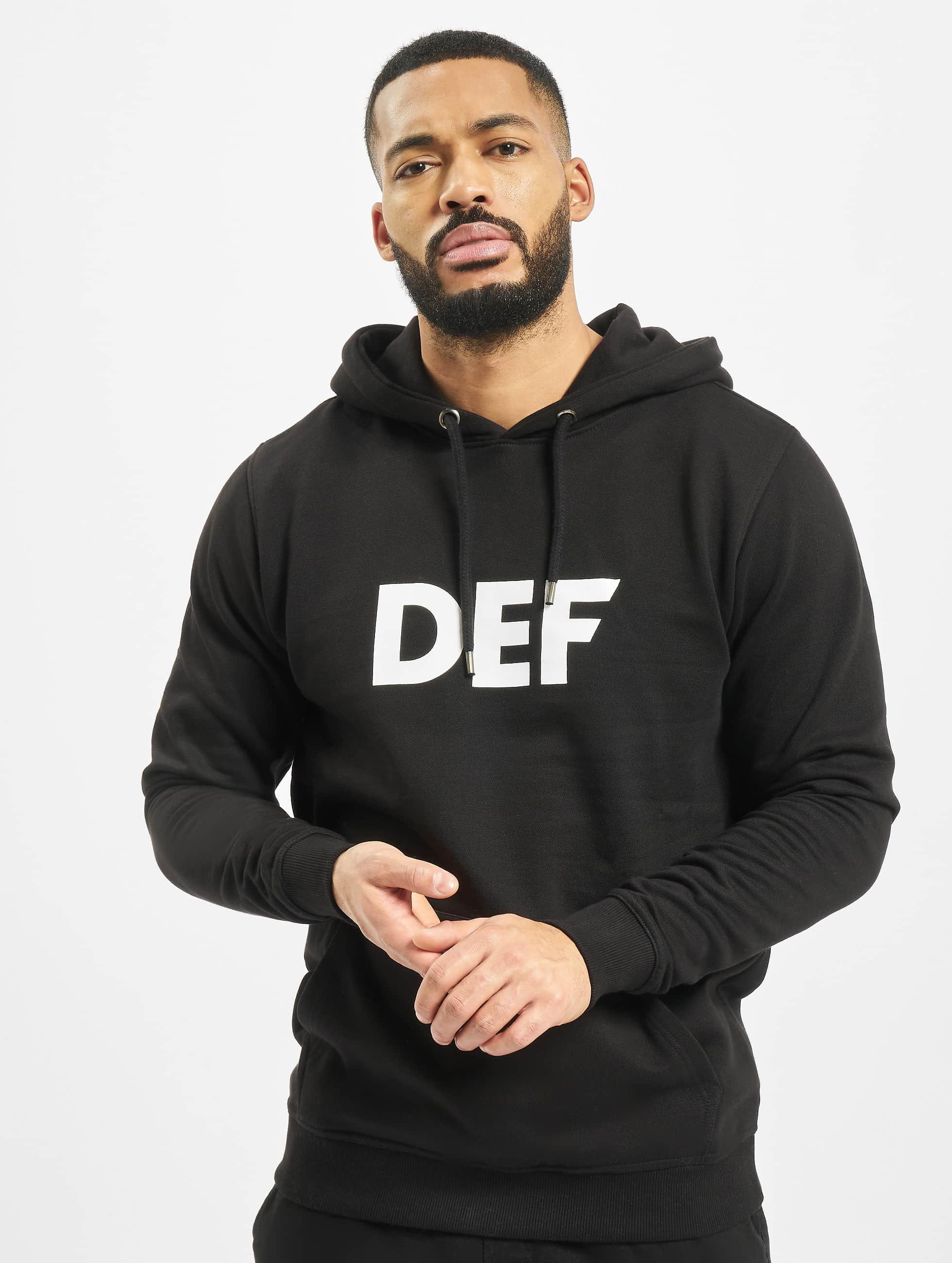 DEF Bluzy z kapturem Til Death czarny
