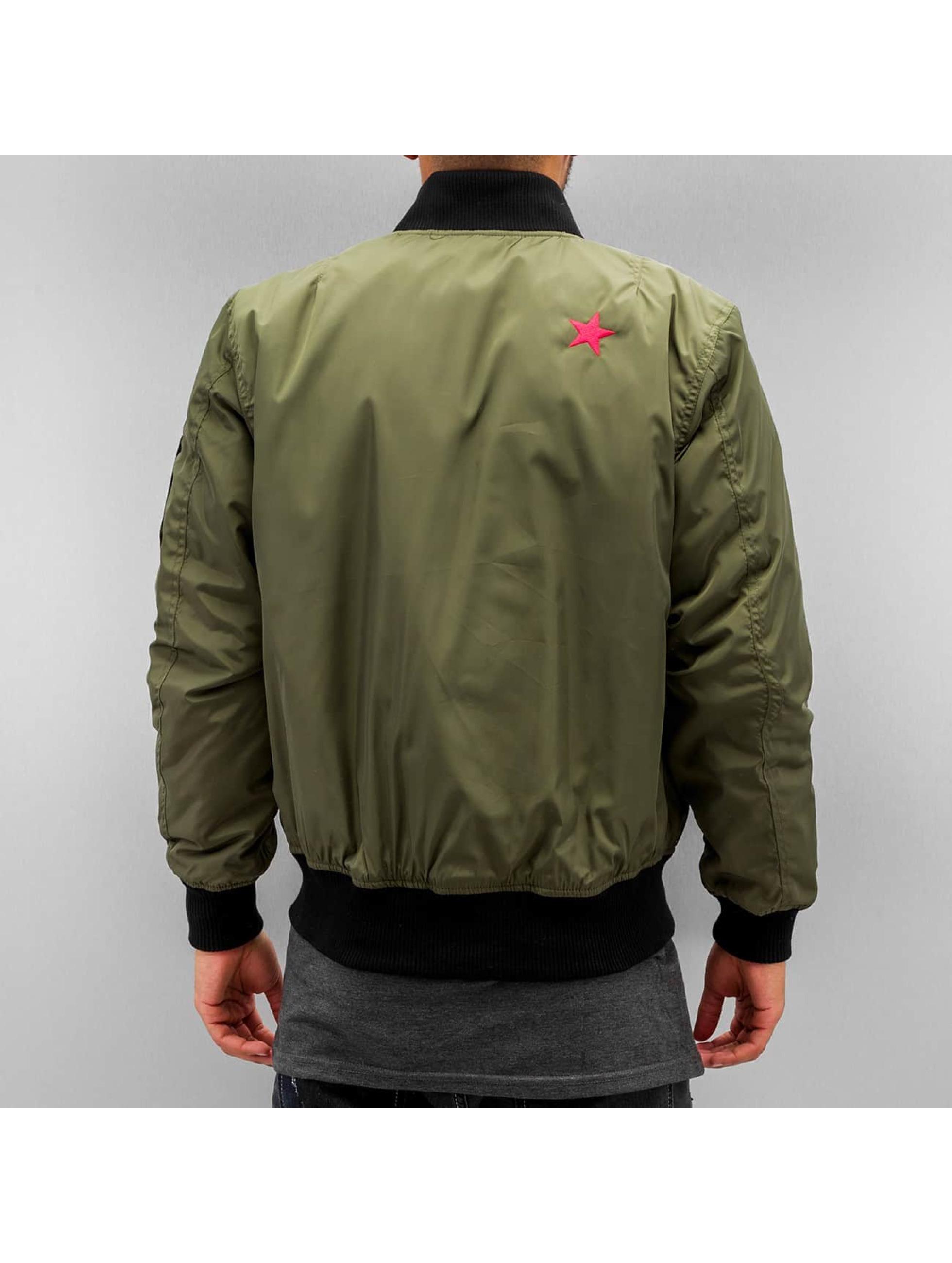 DEF Bomber jacket Peace olive