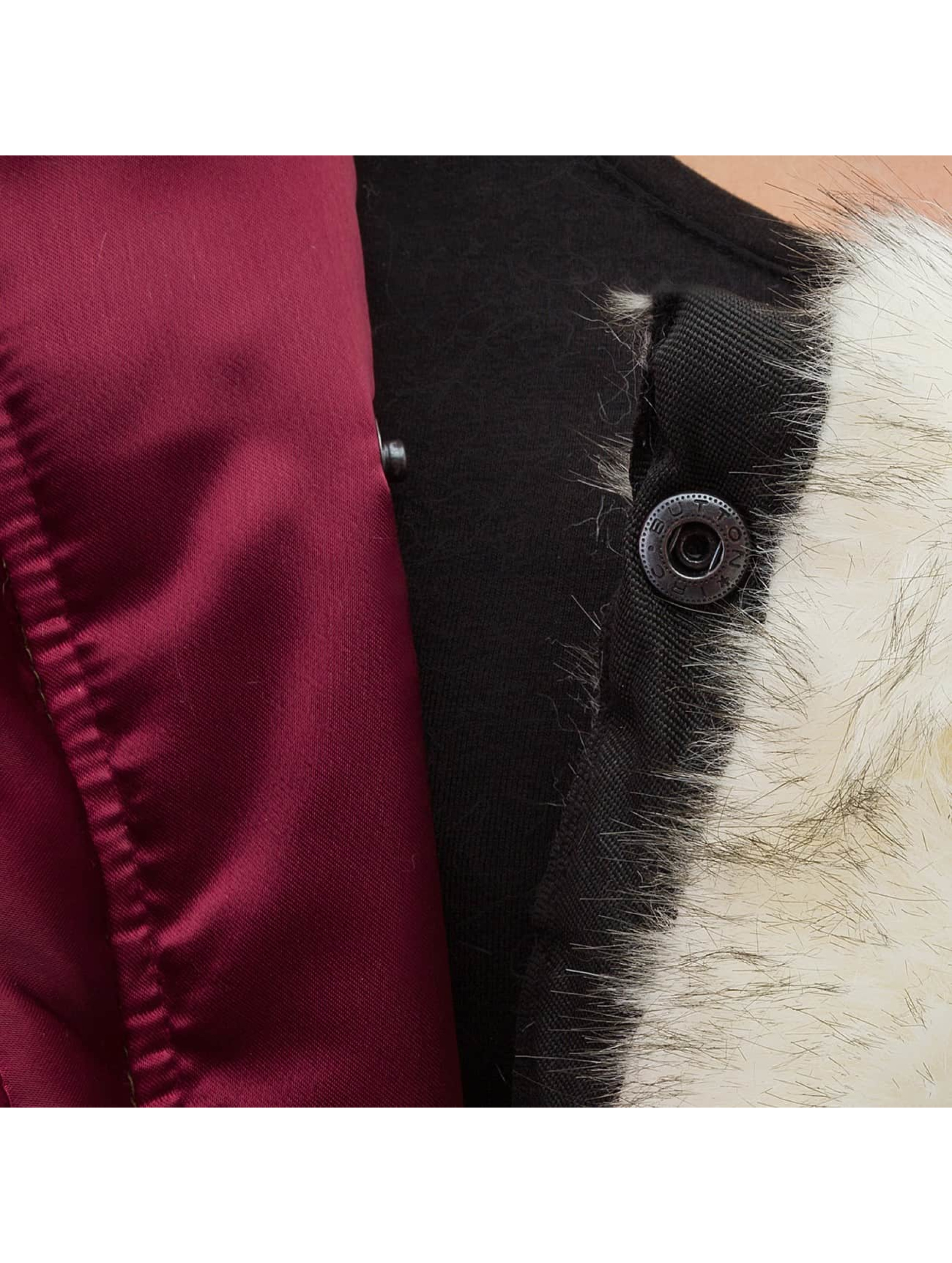 DEF Bomberová bunda Fake Fur èervená