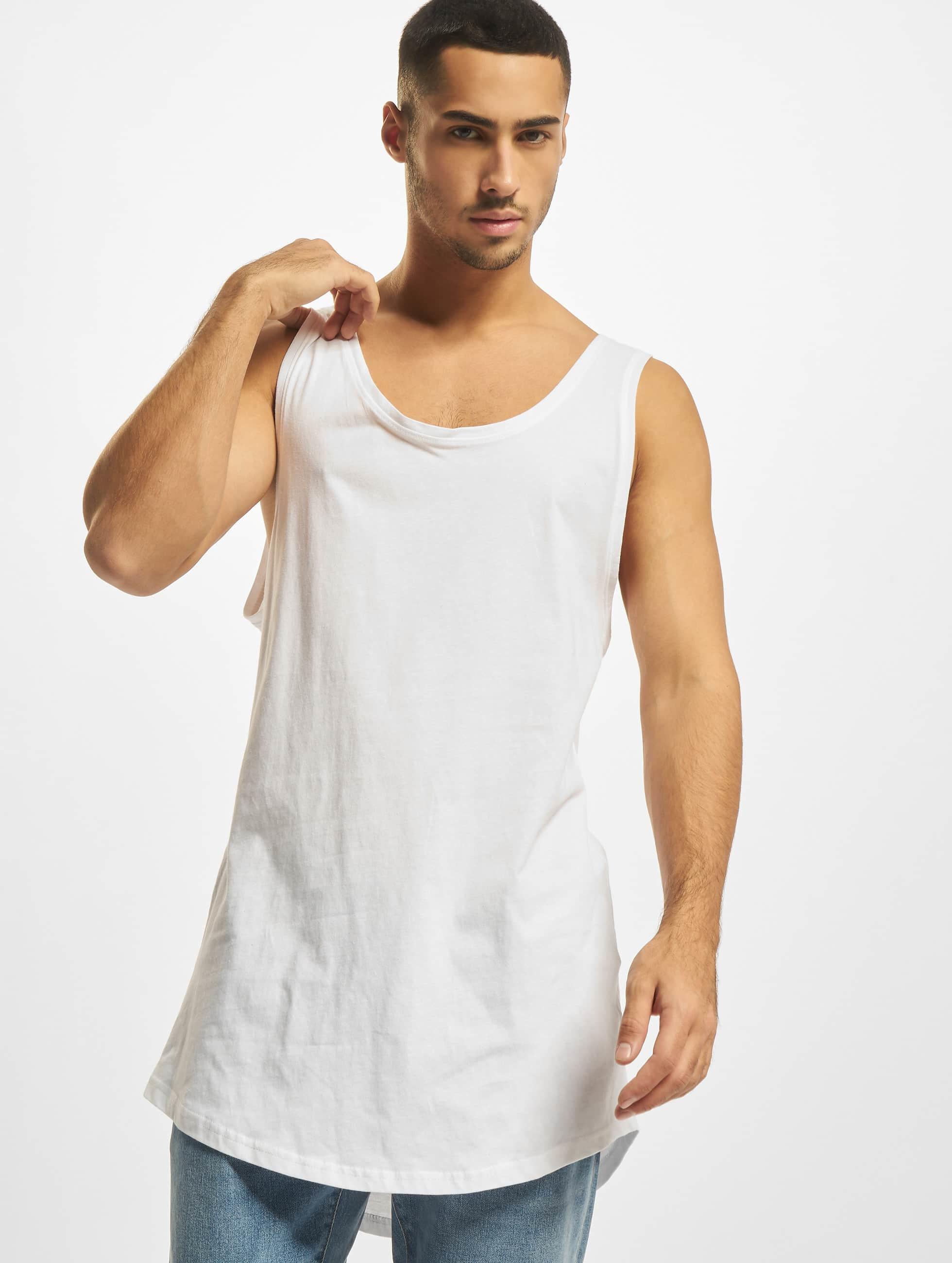 DEF Haut / Débardeurs Basic Long en blanc