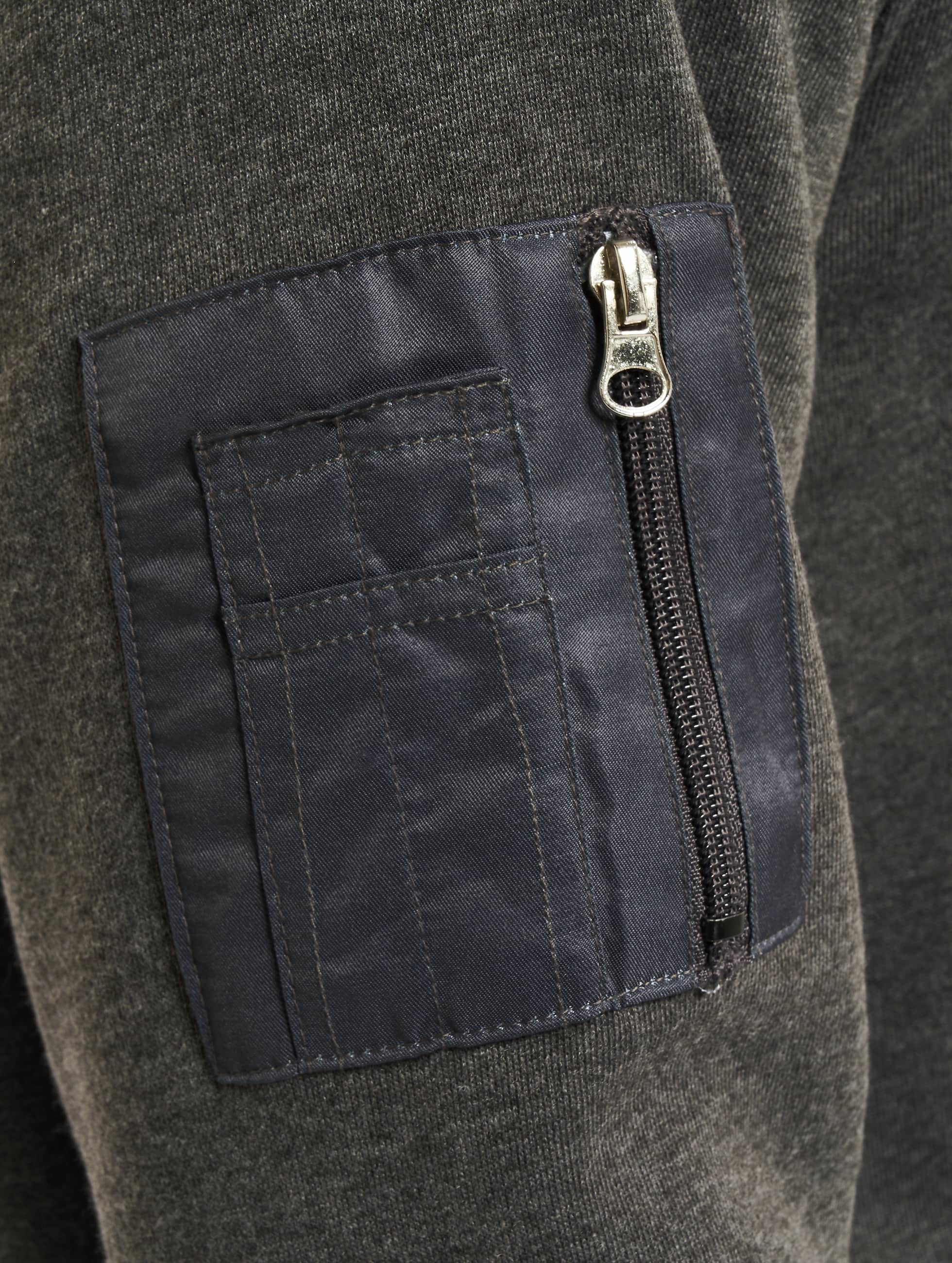 DEF Hoody Upper Arm Pocket grau