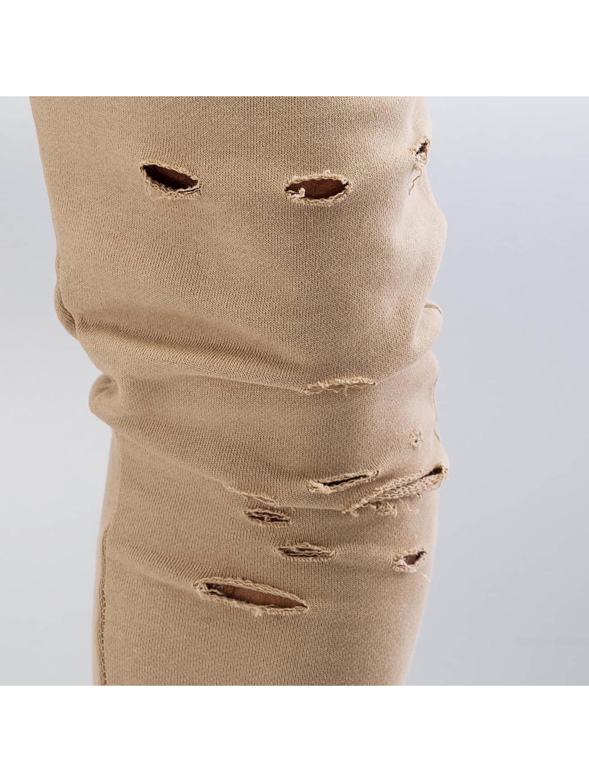 DEF joggingbroek Destroyed beige