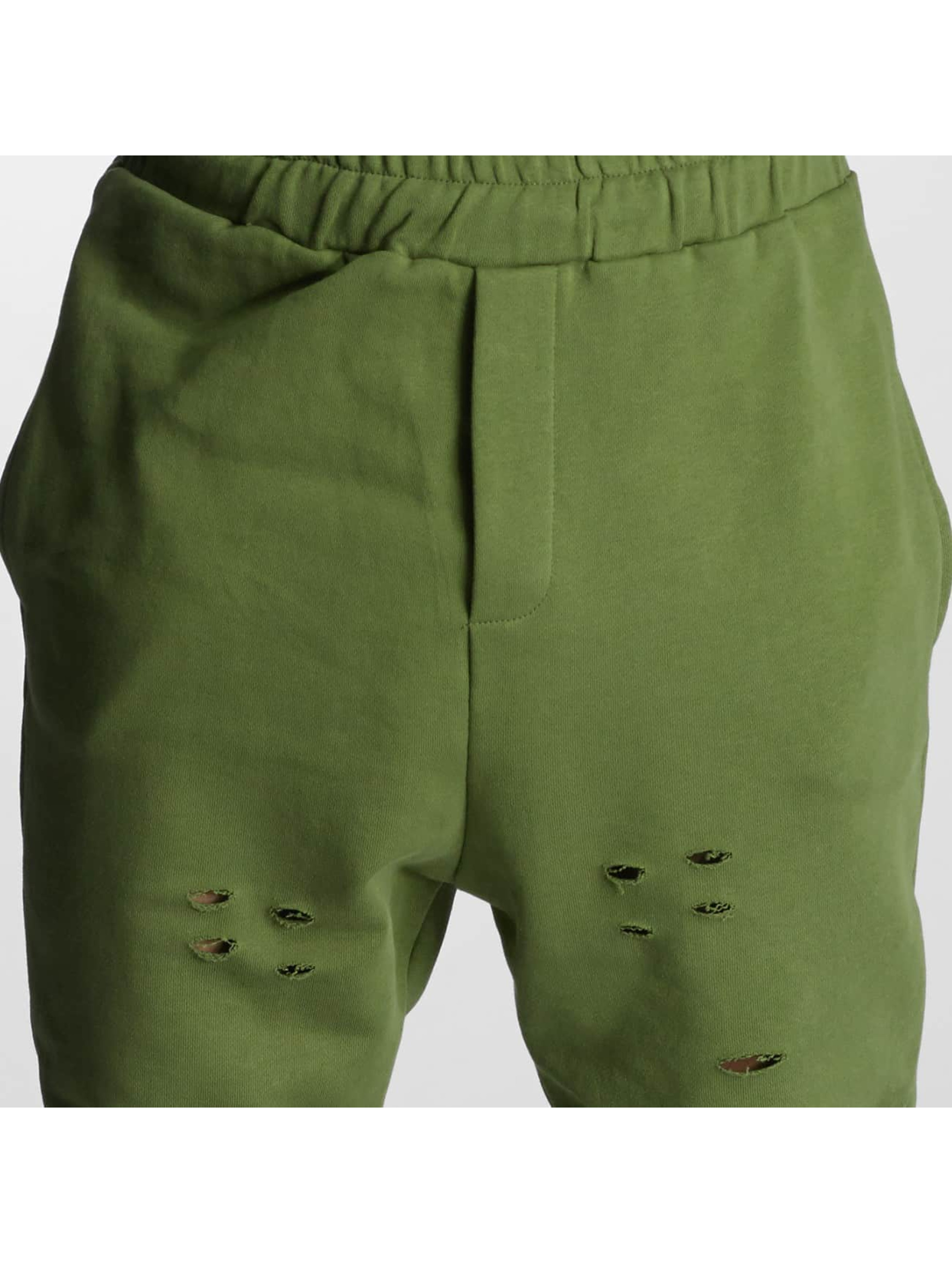 DEF joggingbroek Destroyed olijfgroen