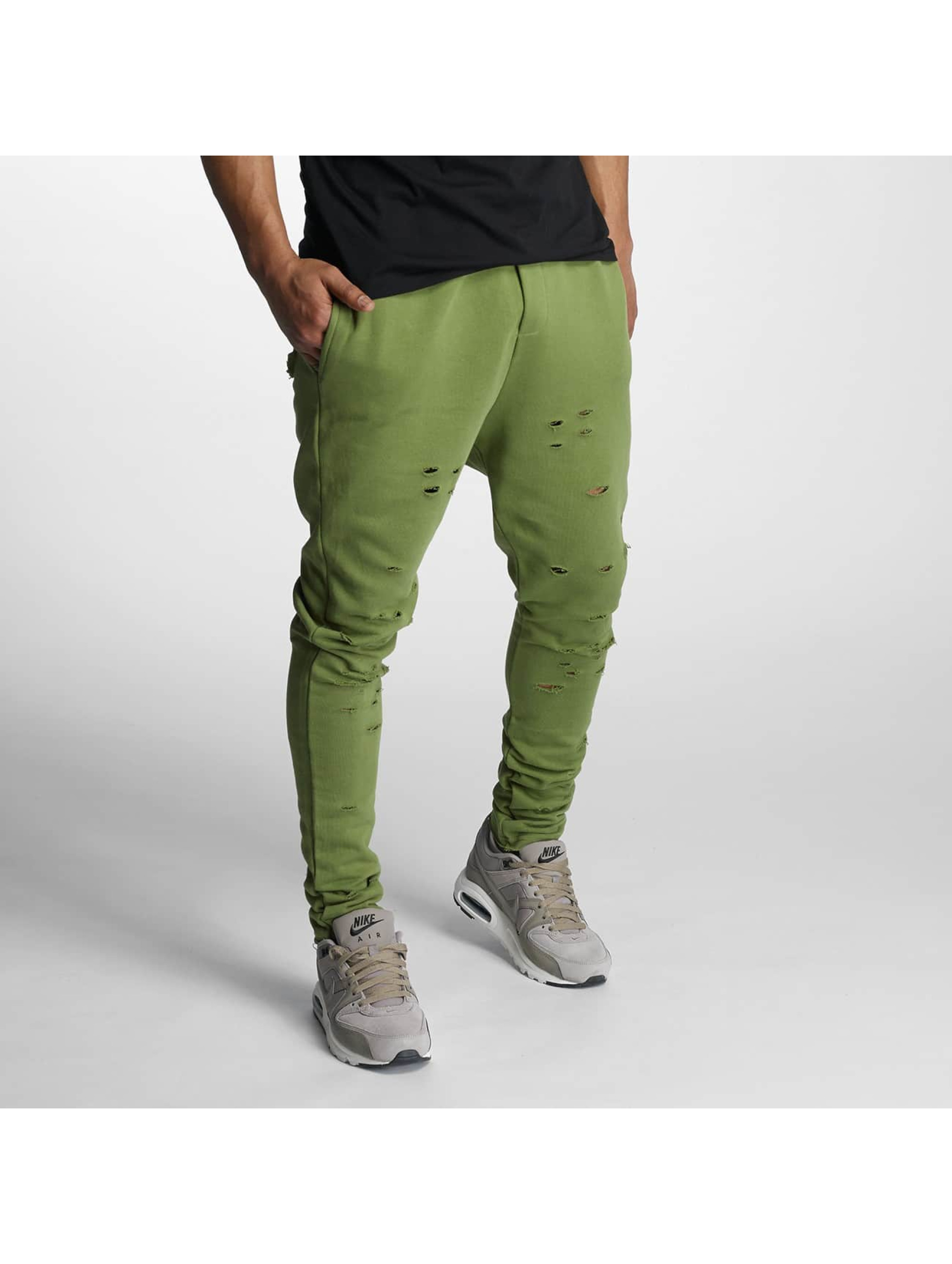 Jogginghose Destroyed in olive