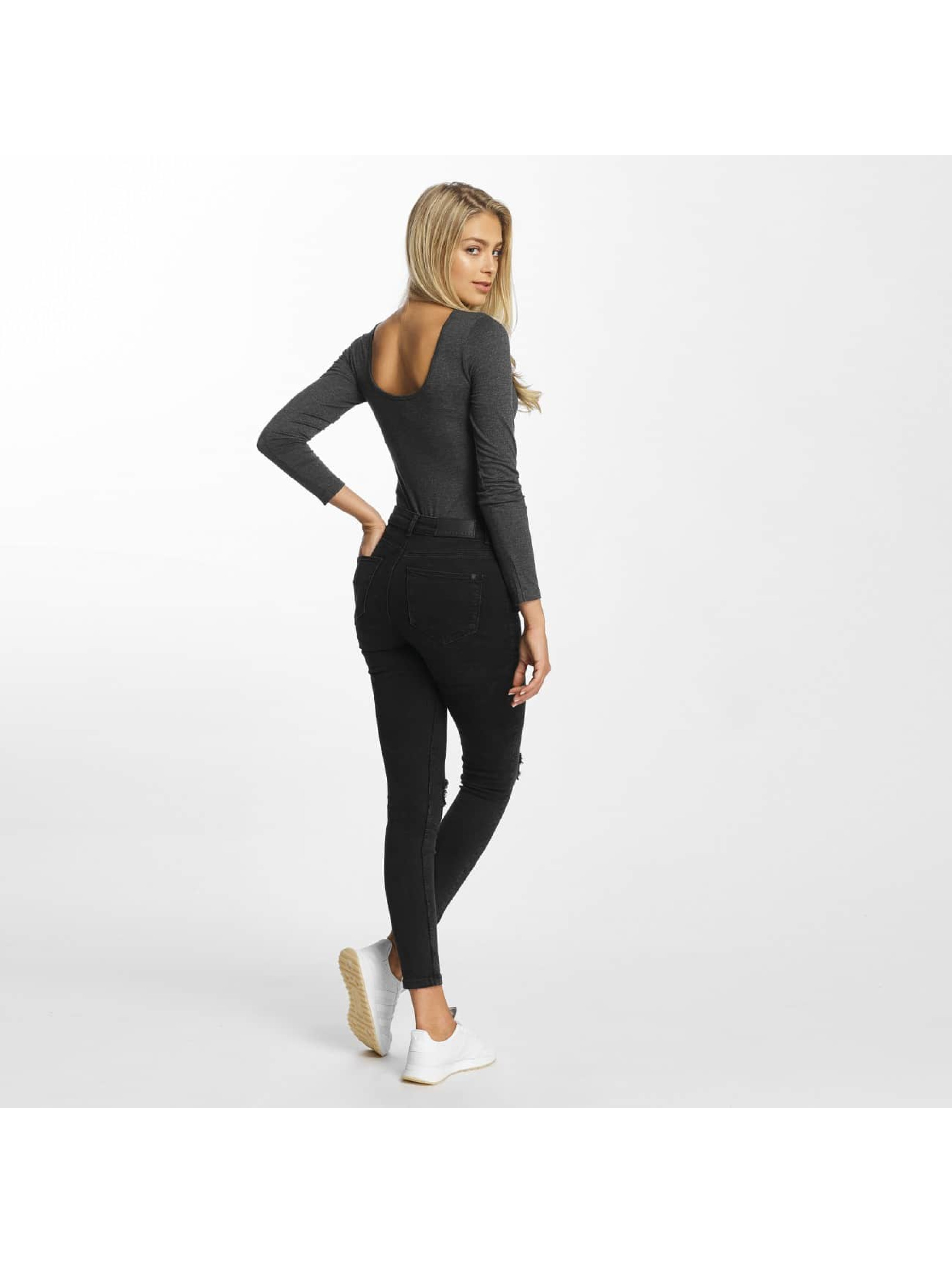 DEF Jumpsuit Long Sleeve grau