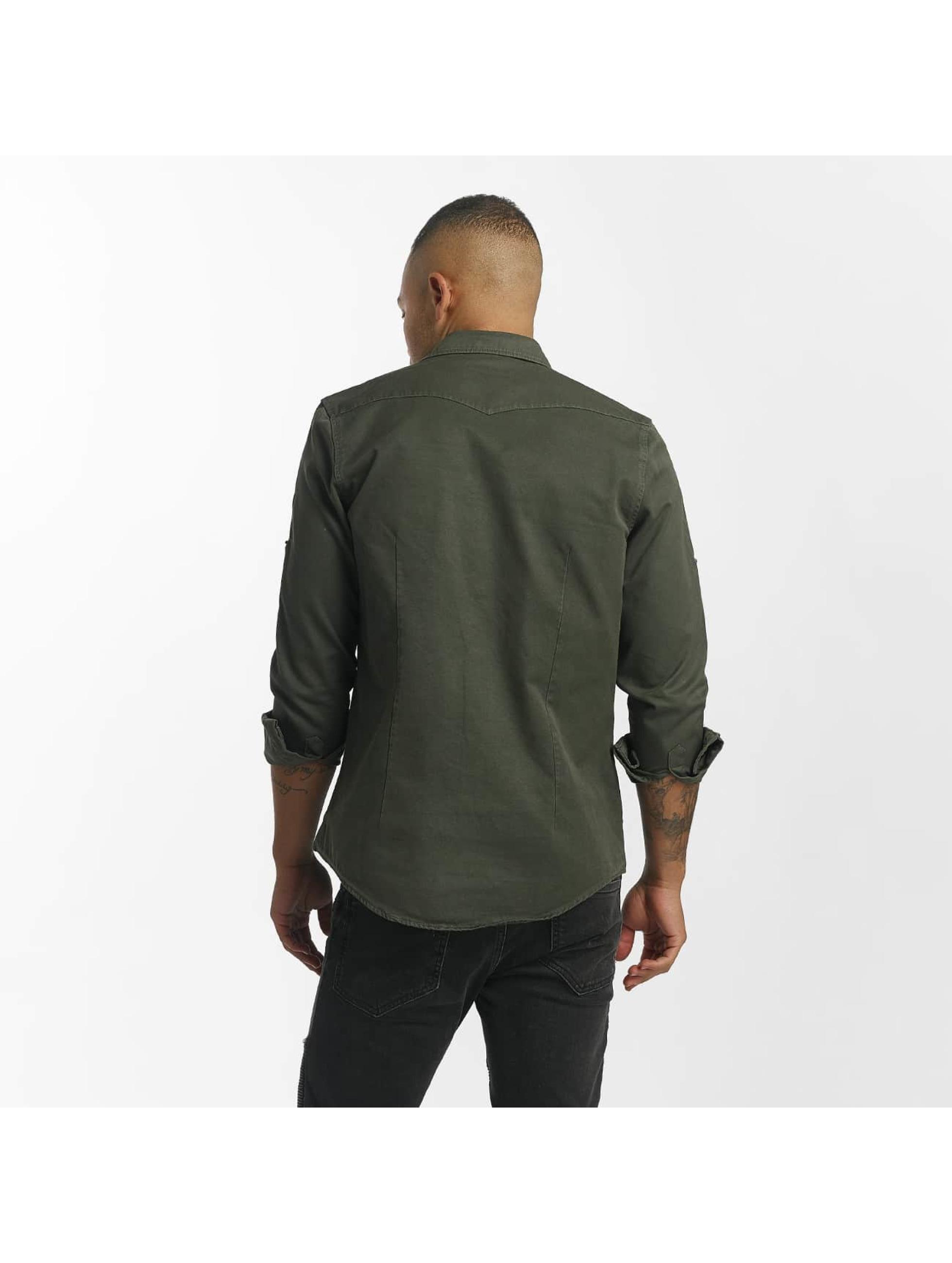DEF overhemd Merthein olijfgroen