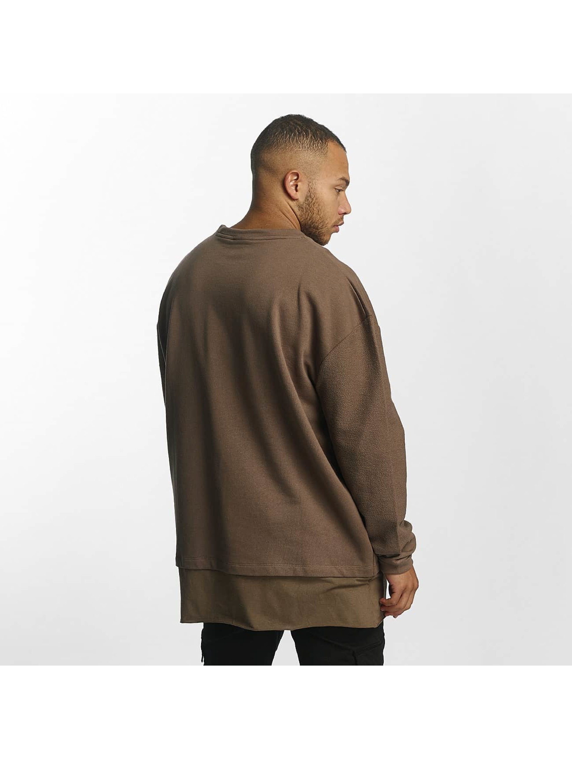 DEF Pullover Terry brown