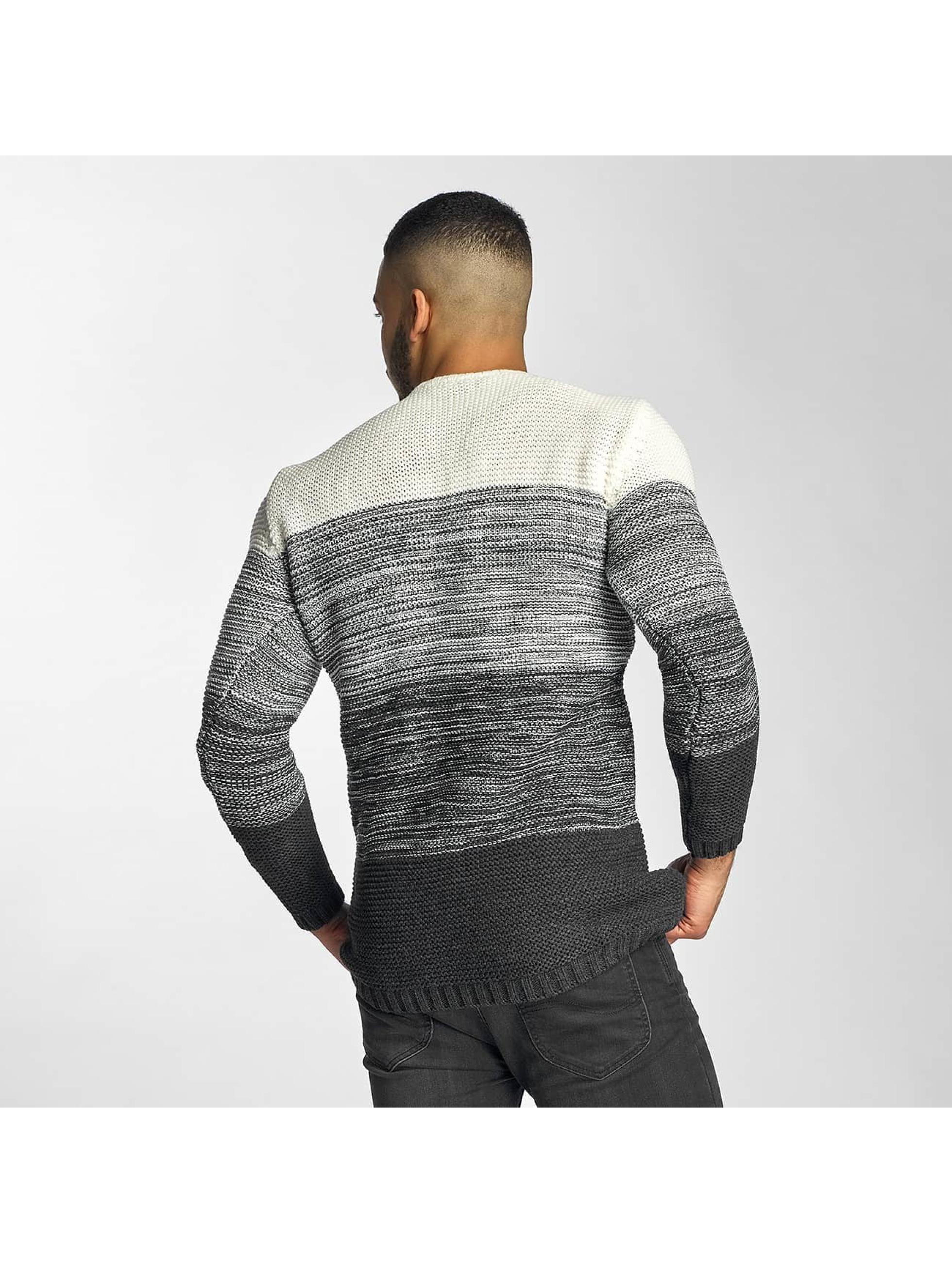 DEF Pullover Striped grau