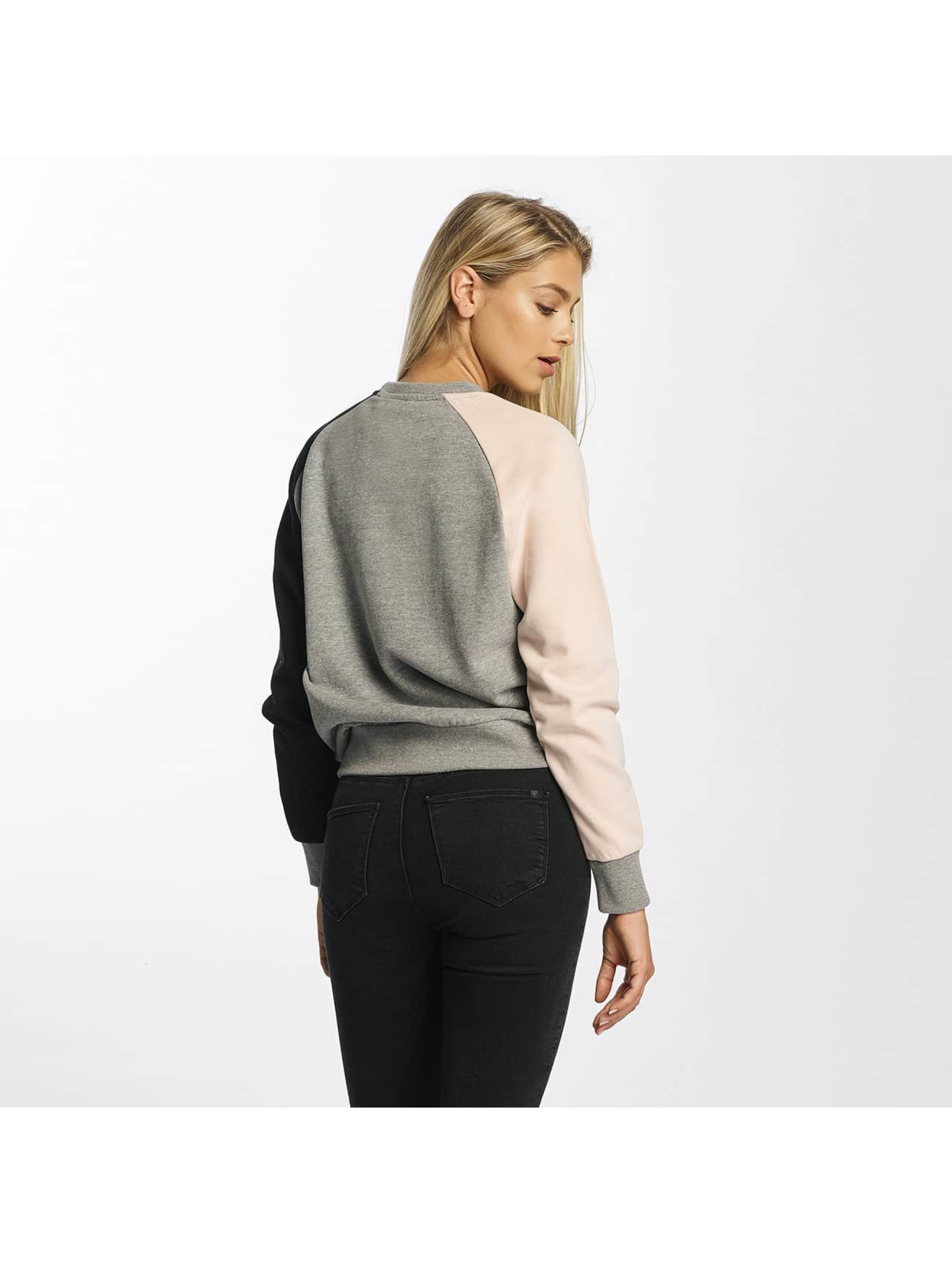DEF Pullover Colorblocking grau