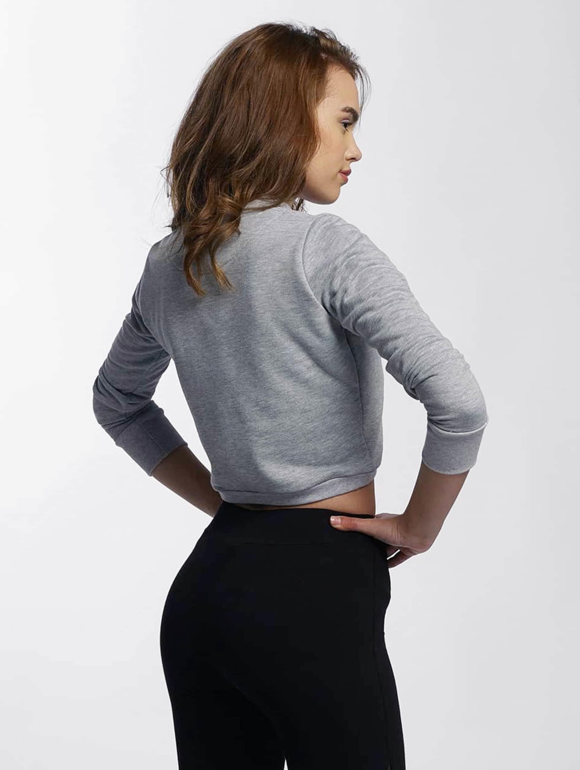 DEF Pullover Lace grau
