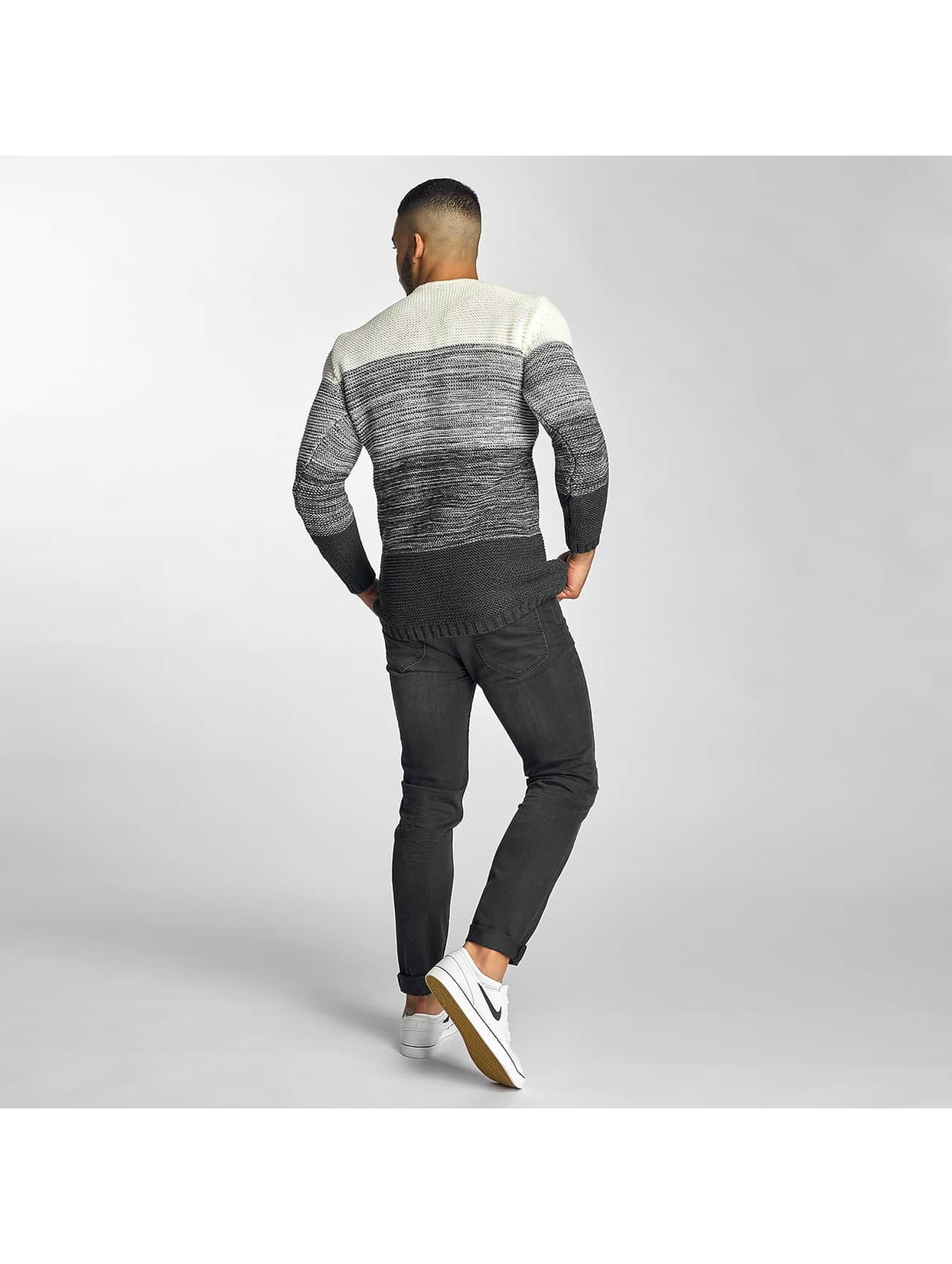 DEF Pullover Striped gray