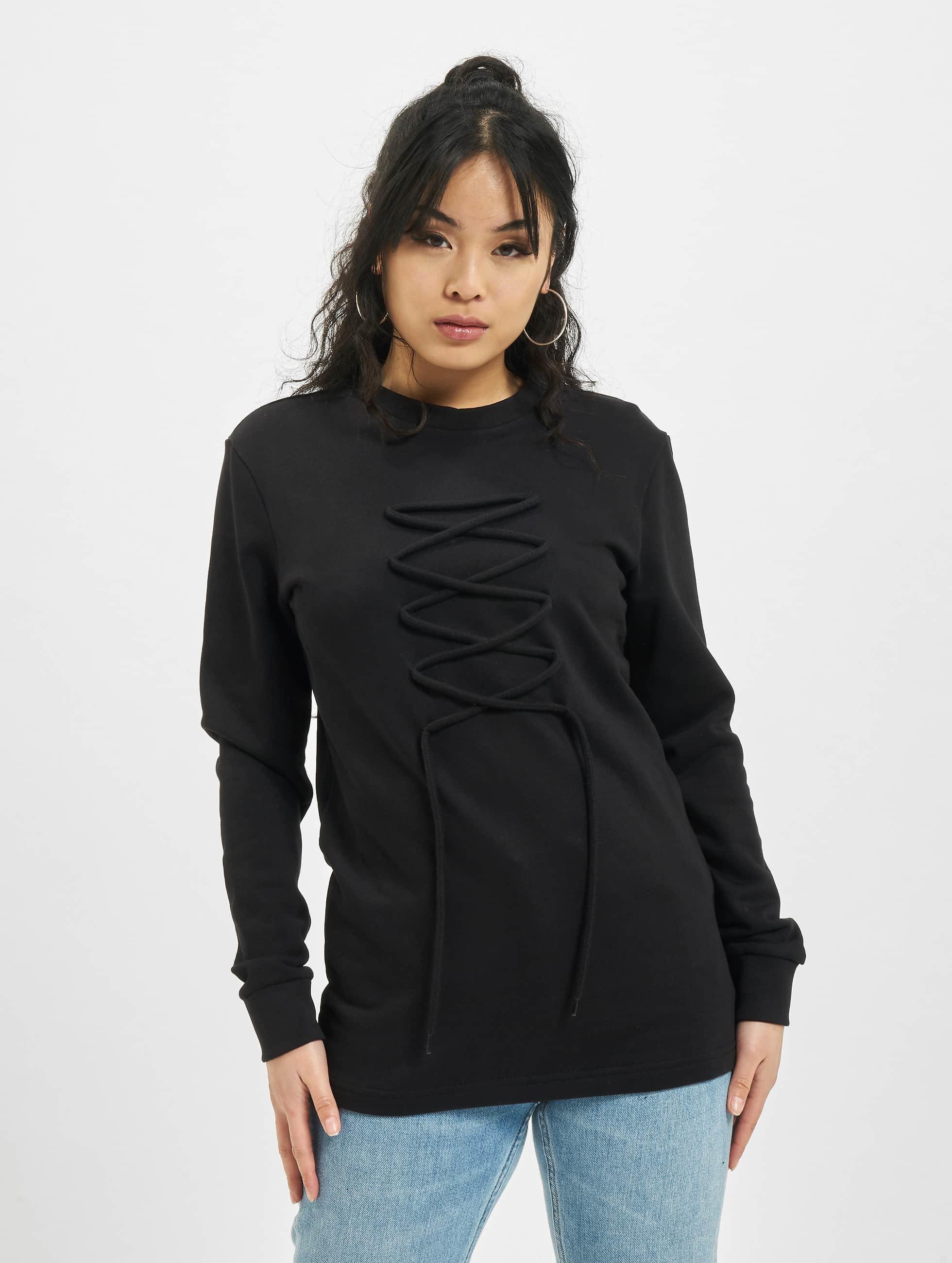 DEF Pullover lace schwarz