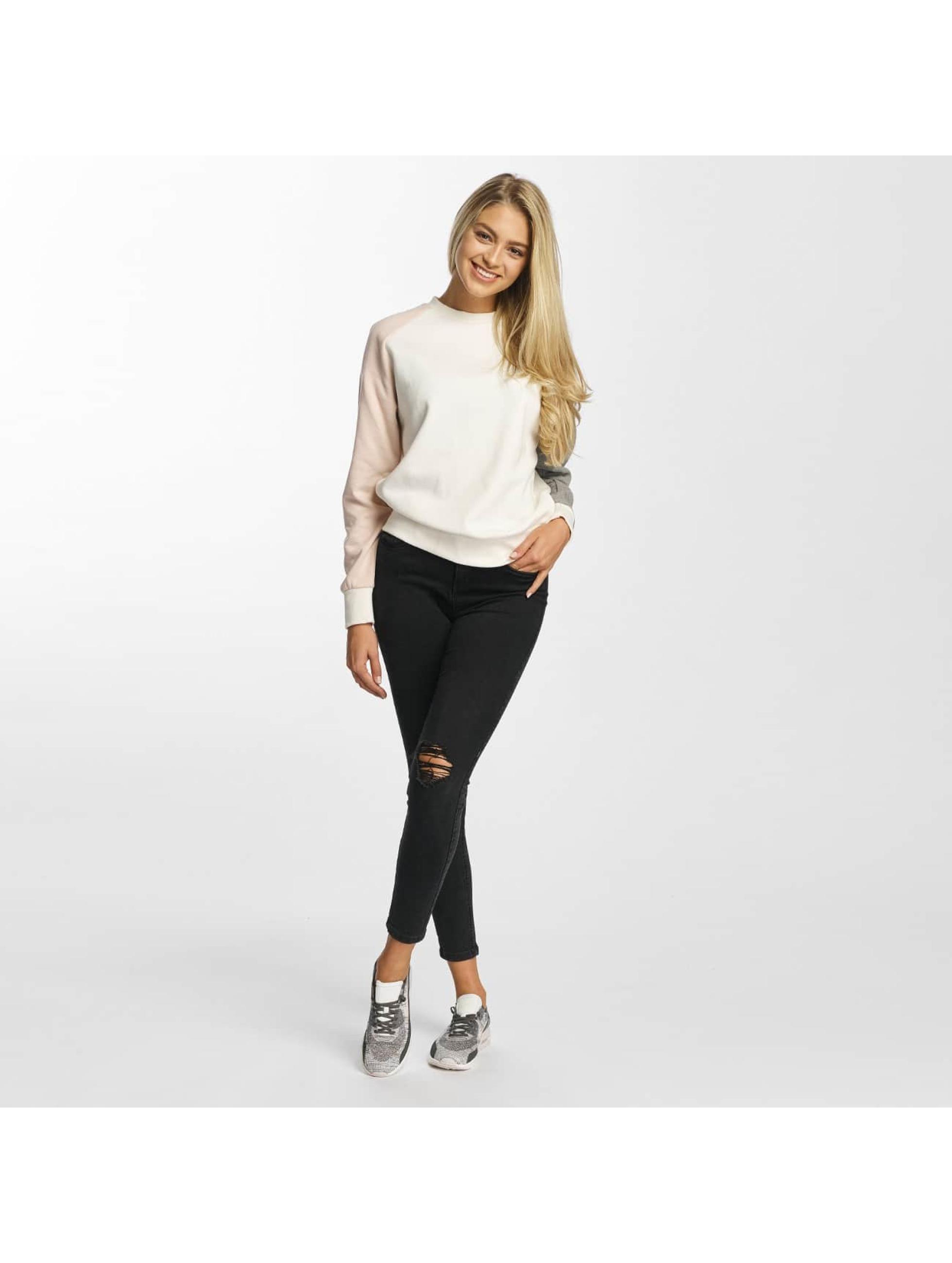 DEF Pullover Colorblocking weiß