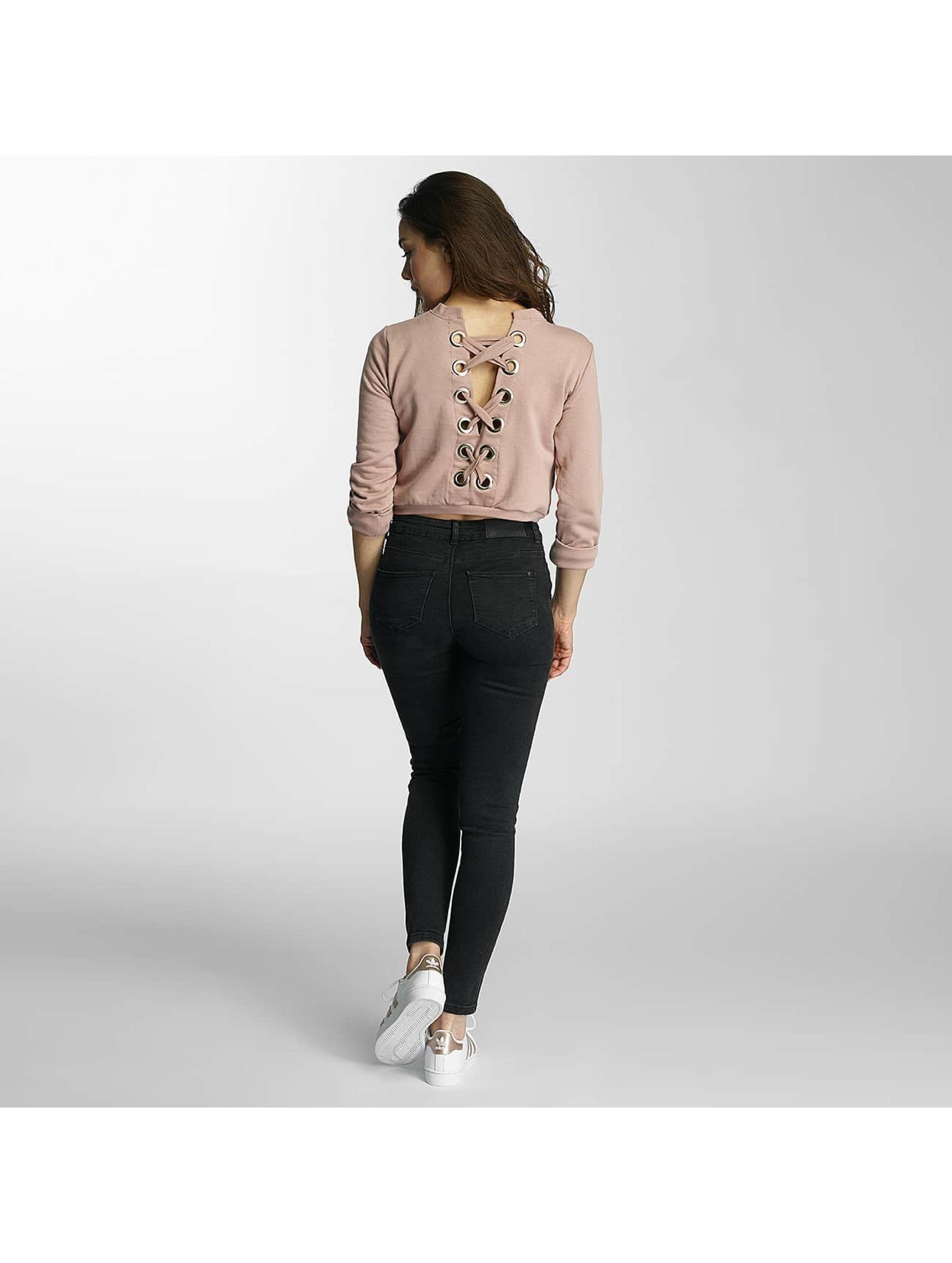 DEF Pulóvre Lace-up ružová